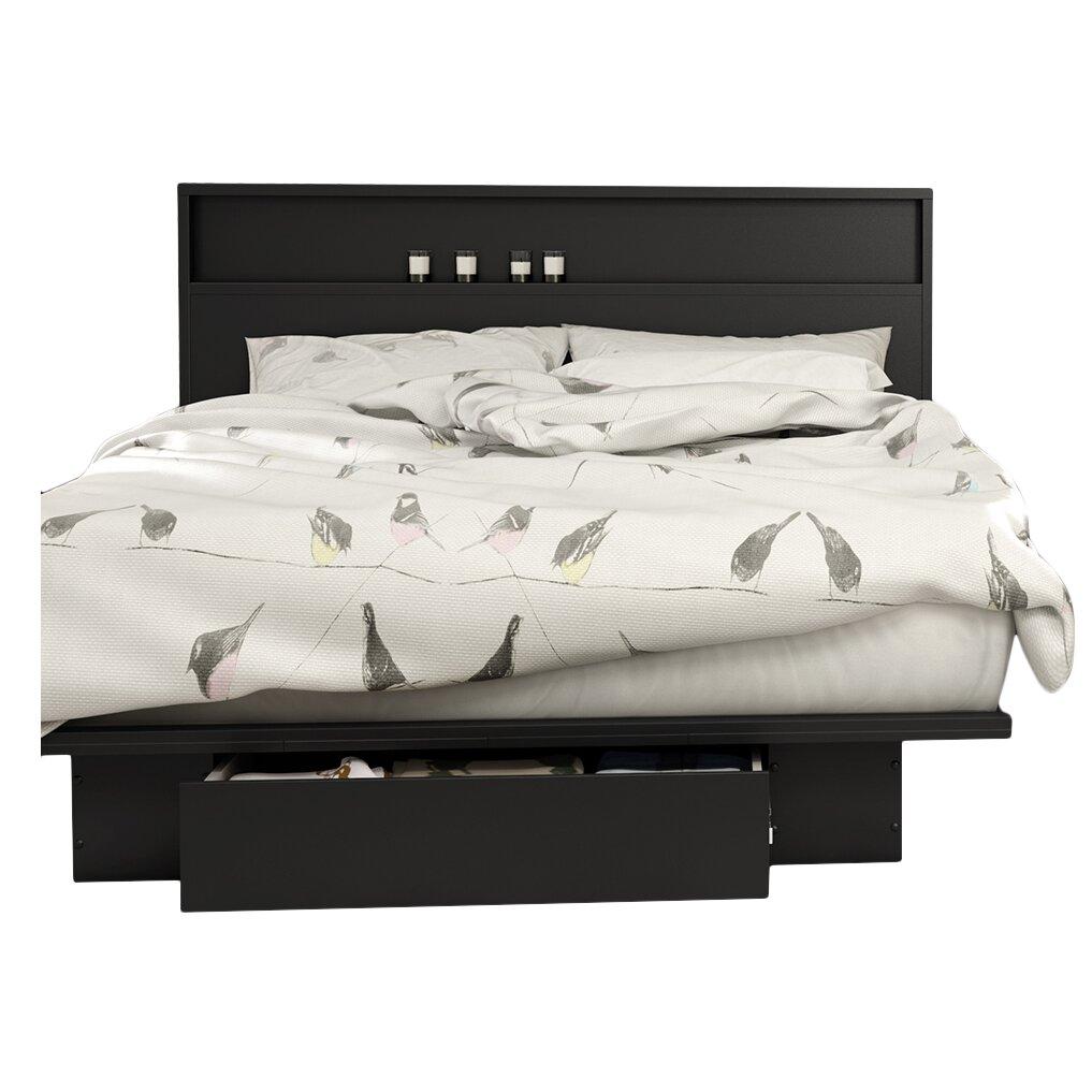 south shore full queen storage platform bed reviews. Black Bedroom Furniture Sets. Home Design Ideas