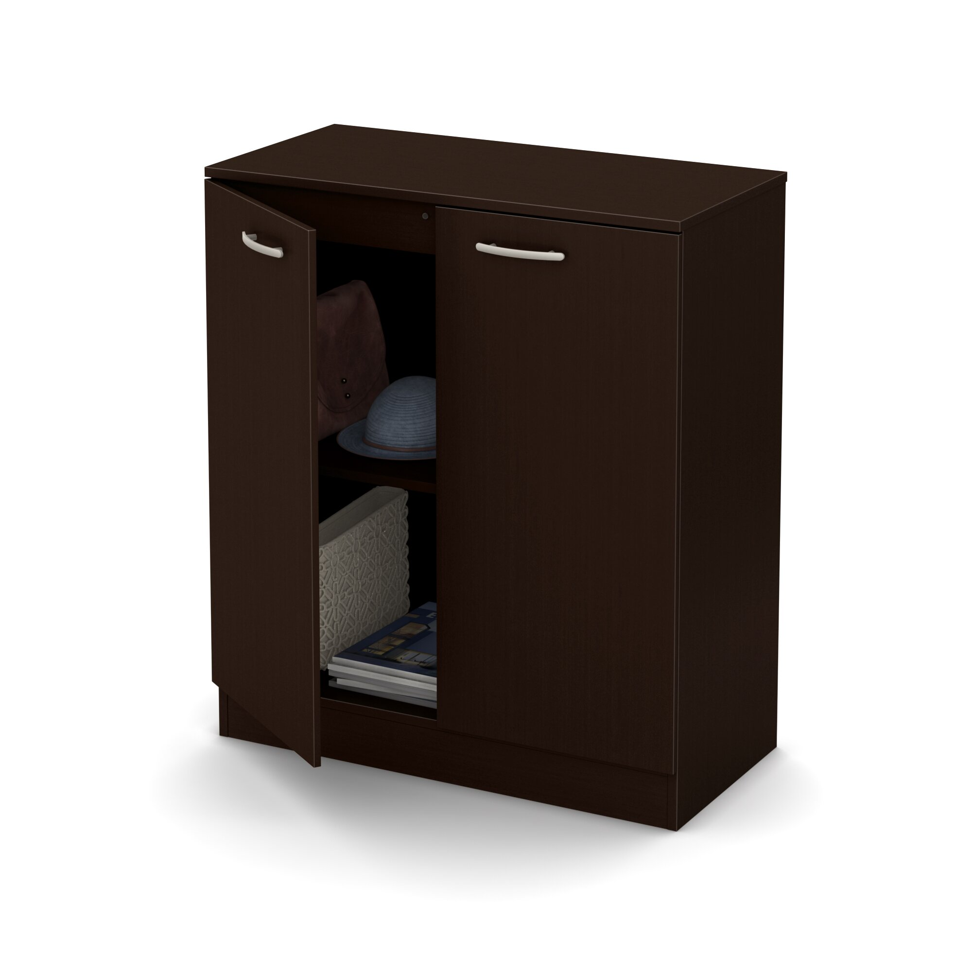 South shore axess 2 door accent cabinet reviews wayfair for Cabinets 101