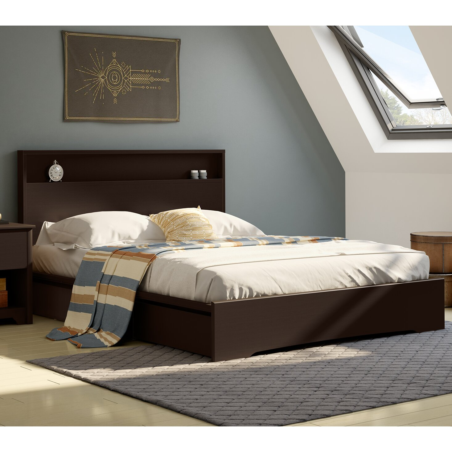 South Shore Basic Queen Storage Platform Bed & Reviews ...