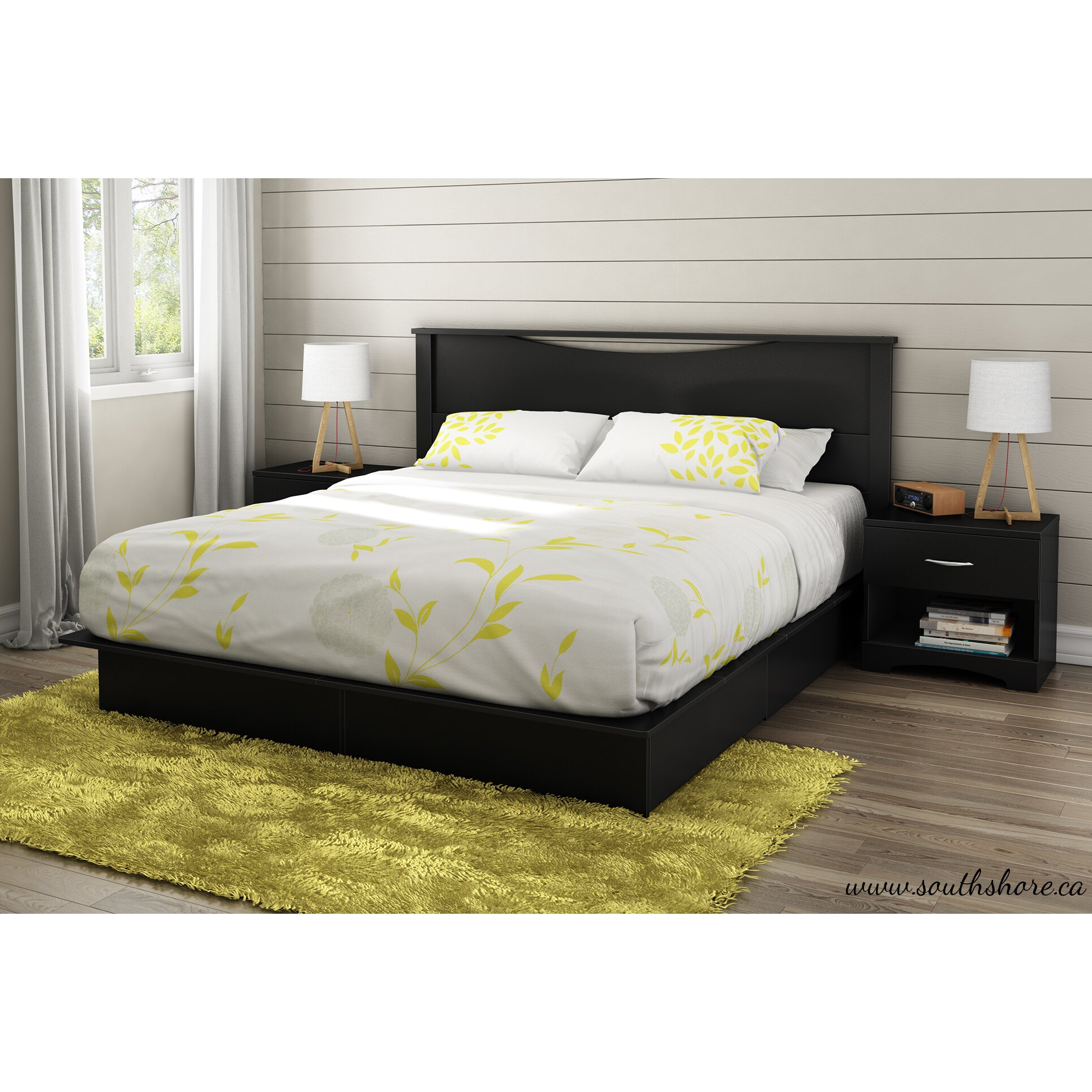 South Shore Platform Bed With Storage