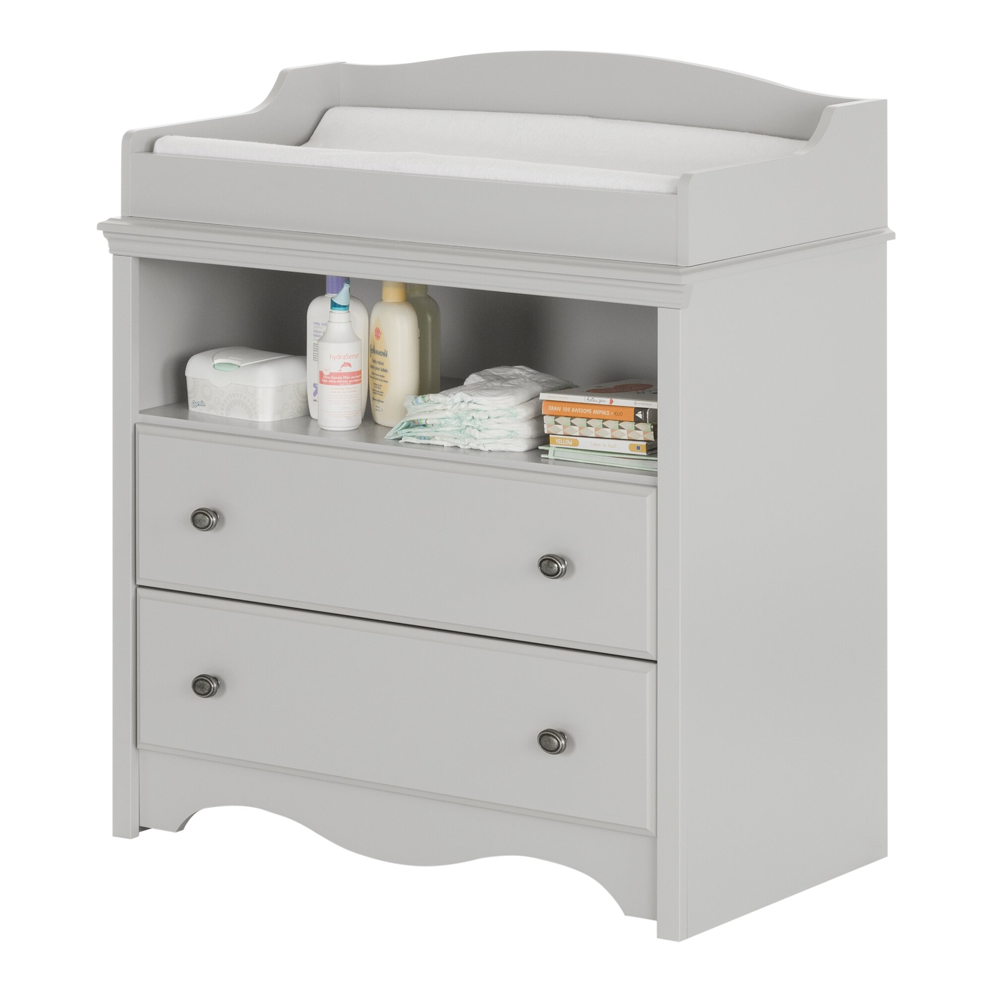 South Shore Angel Soft Gray Changing Table  Wayfair. Secretary Desk With Hutch Top. Desk Tray Sorter. Round Glass Top Patio Table. Bunk Bed With Desk Underneath For Sale. Craigslist Desk Chair. Diy Height Adjustable Desk. Under The Desk Exercise Equipment. Wooden 4 Drawer File Cabinet