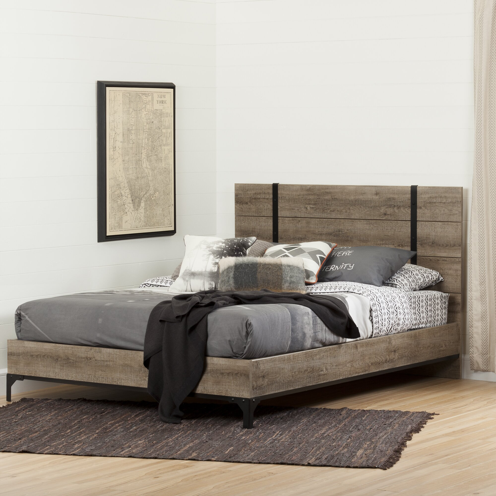 South Shore Valet Queen Platform Bed & Reviews
