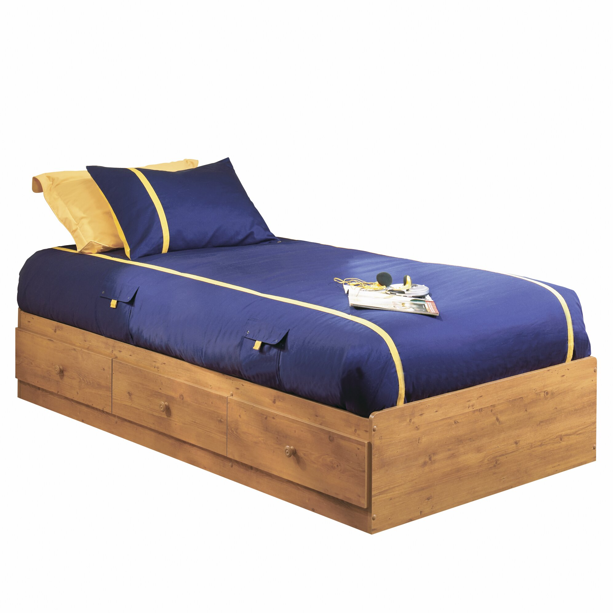 South Shore Amesbury Twin Mate S Bed With Storage