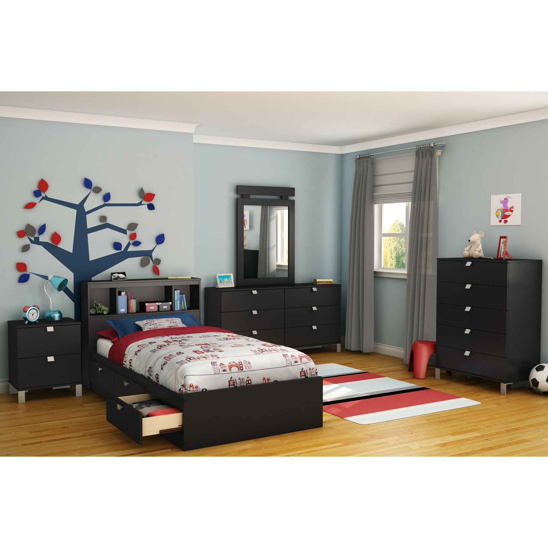 South Shore Spark Platform Customizable Bedroom Set