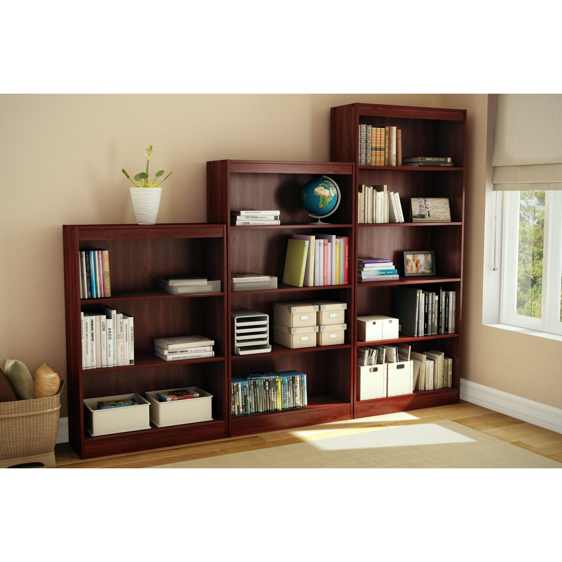 south shore axess 58 standard bookcase reviews wayfair. Black Bedroom Furniture Sets. Home Design Ideas
