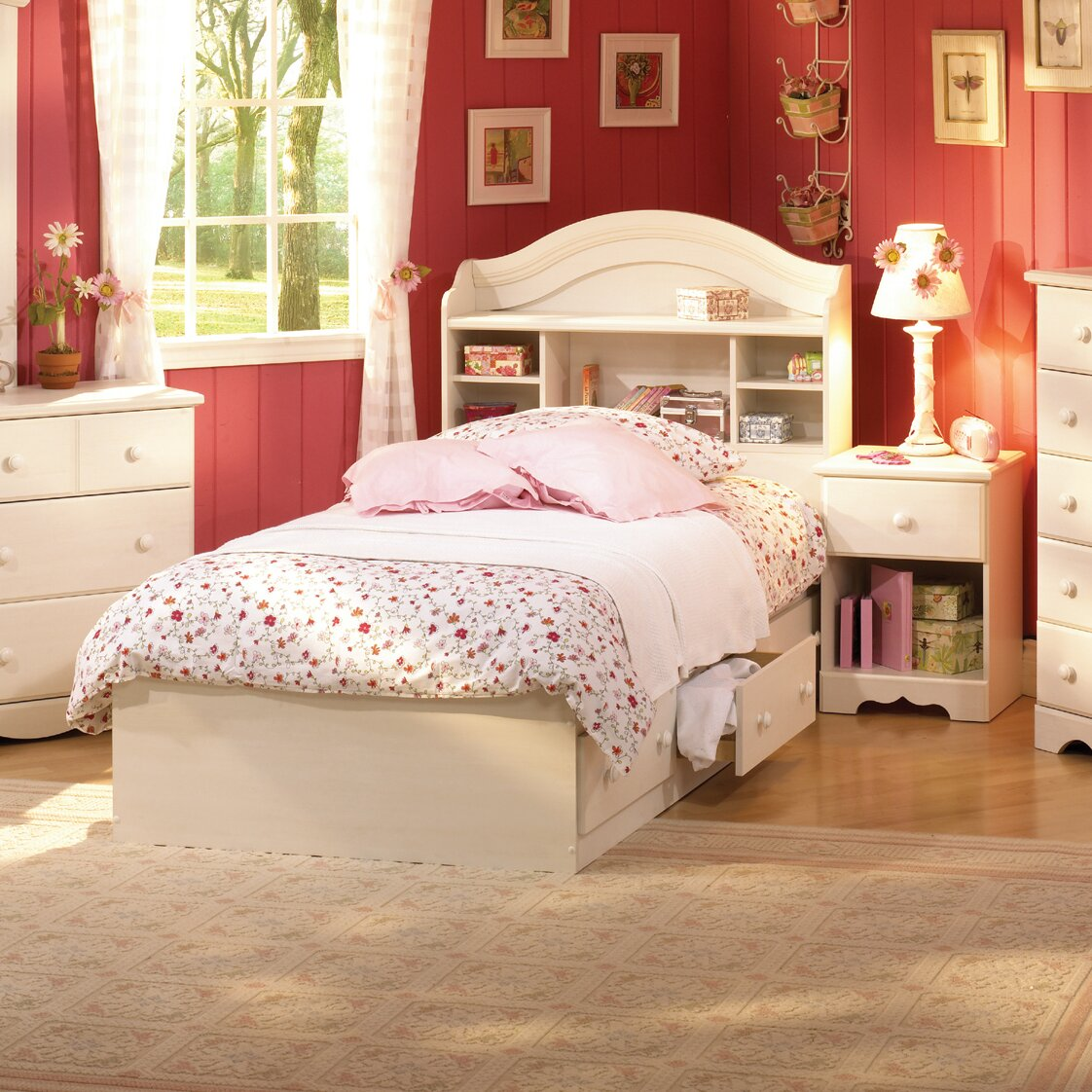 South Shore Bedroom Furniture South Shore Summer Breeze Platform Customizable Bedroom Set