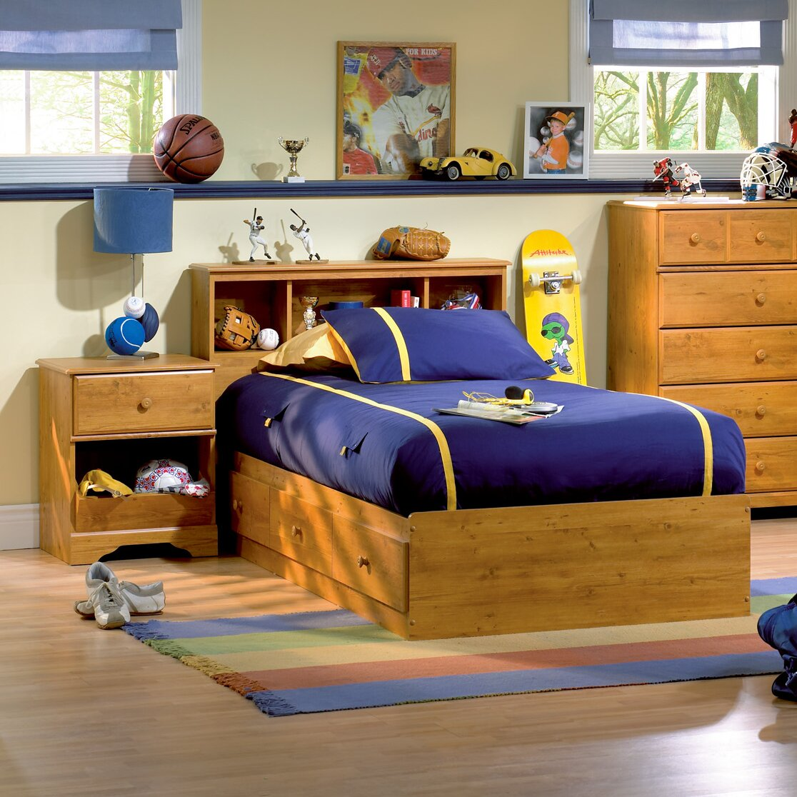 South Shore Amesbury Twin Platform Customizable Bedroom