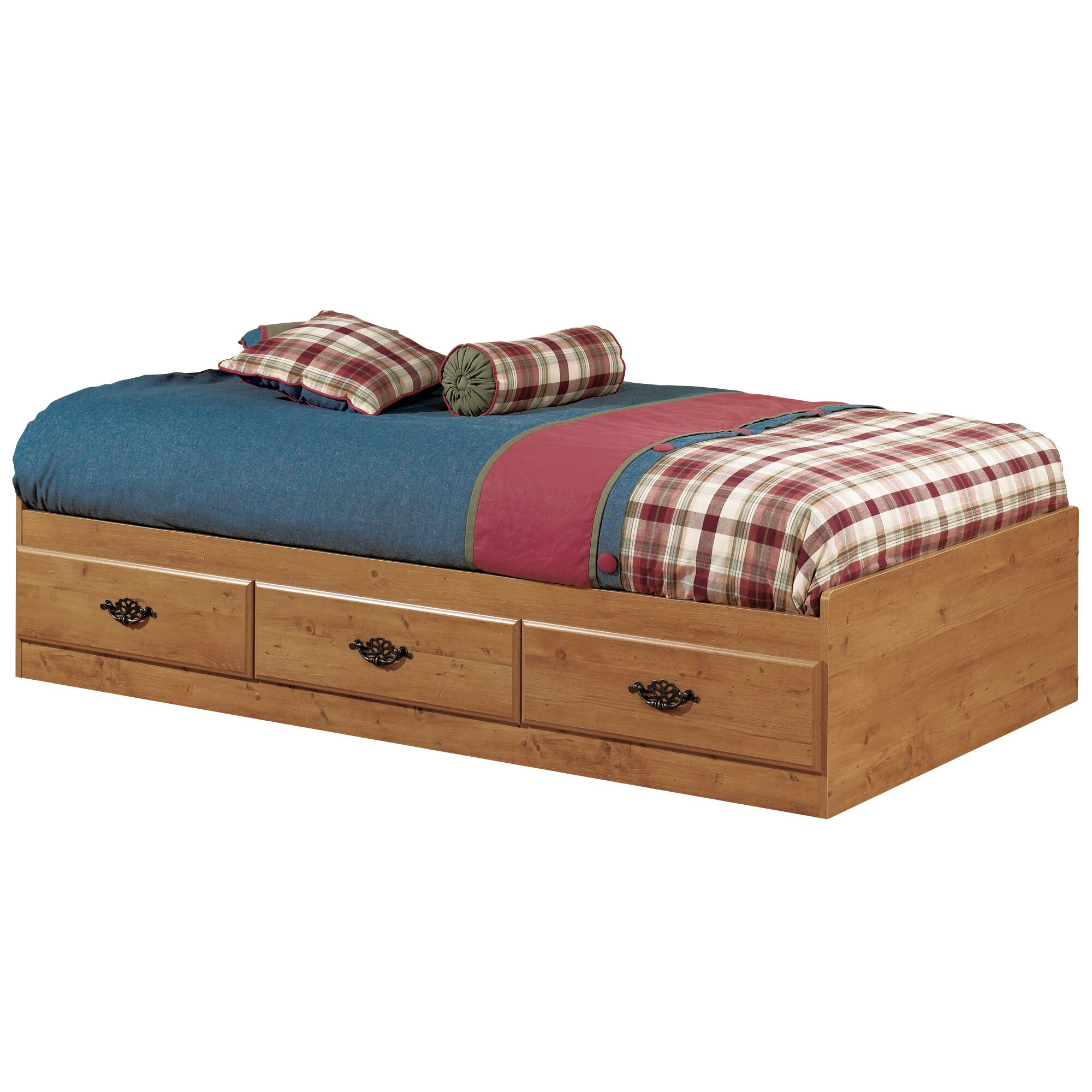 South Shore Prairie Twin Mate's Bed with Storage & Reviews ...