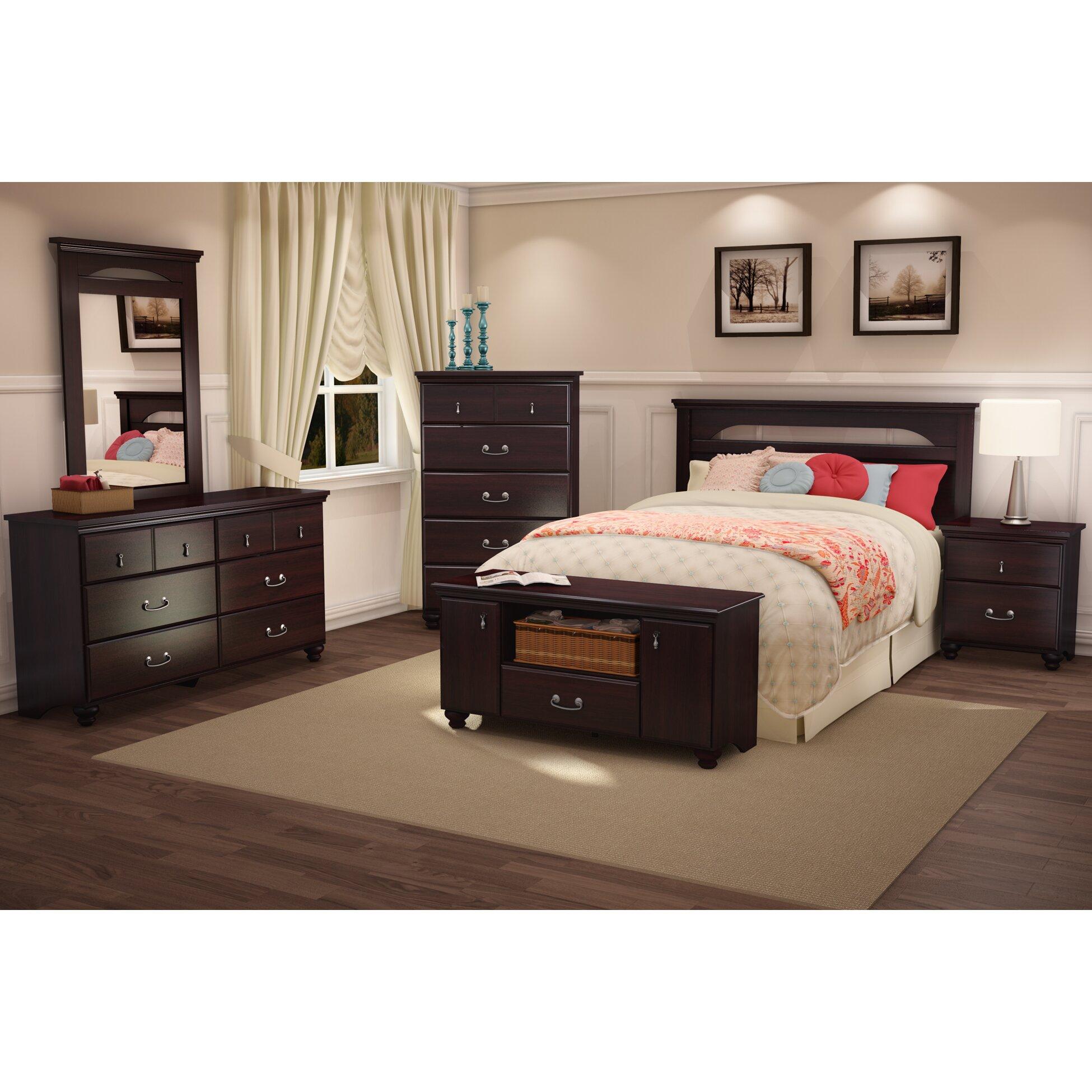 South shore noble collection storage bench reviews wayfair - South shore furniture bedroom sets ...