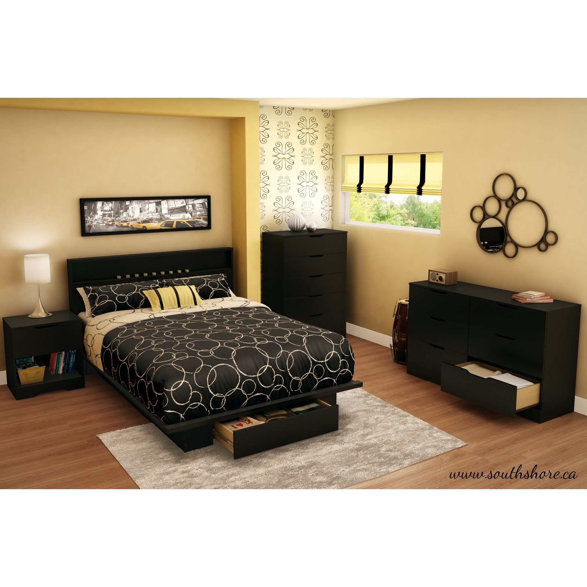 South Shore Holland Platform Customizable Bedroom Set
