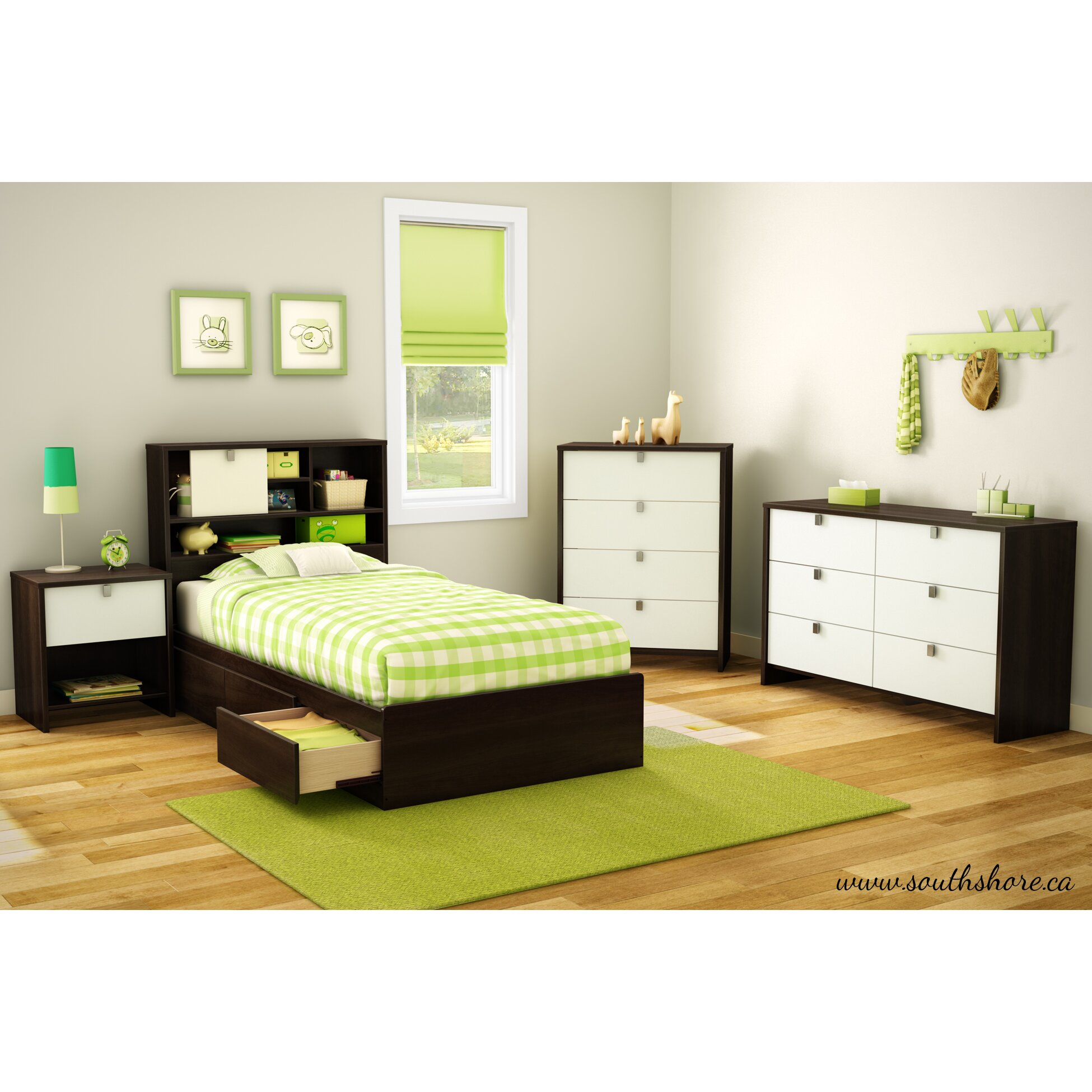 South Shore Cookie Twin Platform Customizable Bedroom Set