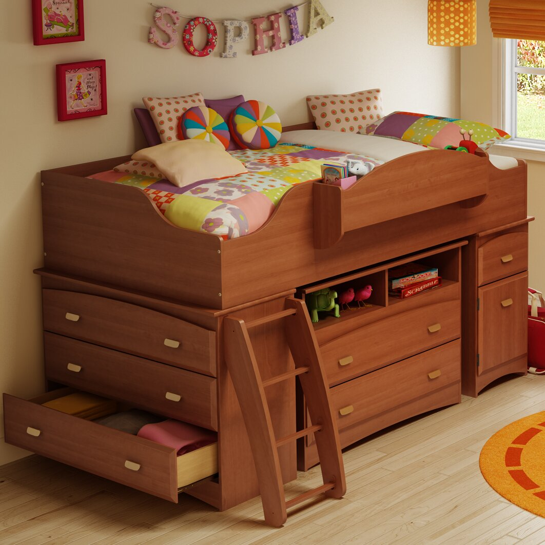 south shore imagine loft bed customizable bedroom set