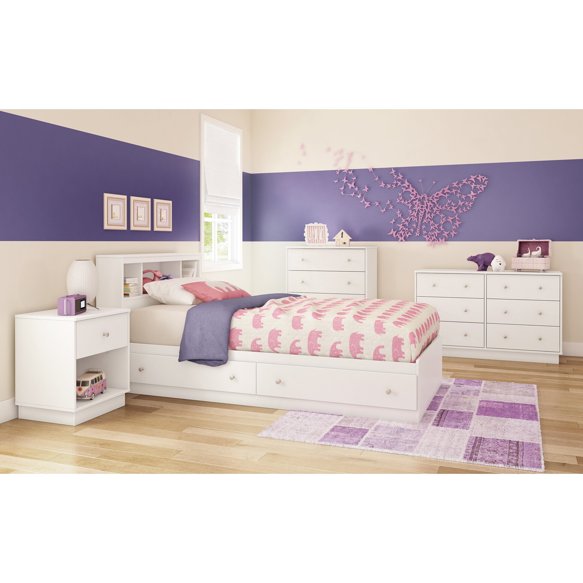 South shore litchi twin mate 39 s bed with storage reviews - Childrens bedroom furniture with storage ...