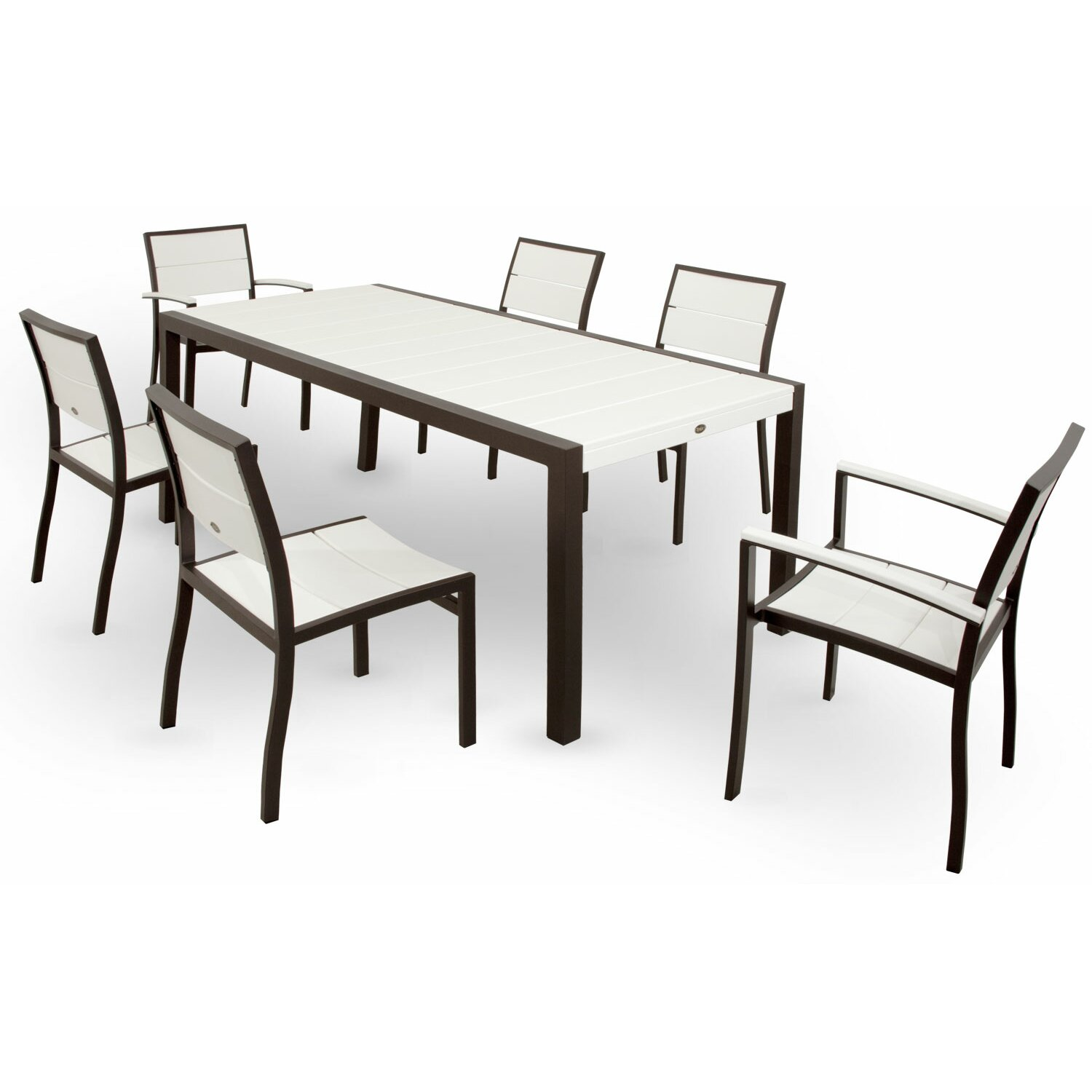 Trex surf city 7 piece dining set reviews wayfair for 7 piece dining set