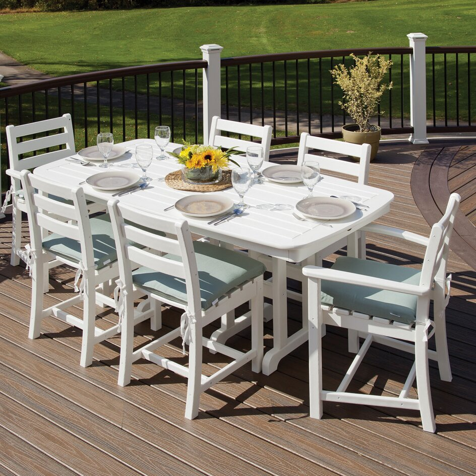 Trex monterey bay 7 piece dining set reviews wayfair for Outdoor furniture 7 piece