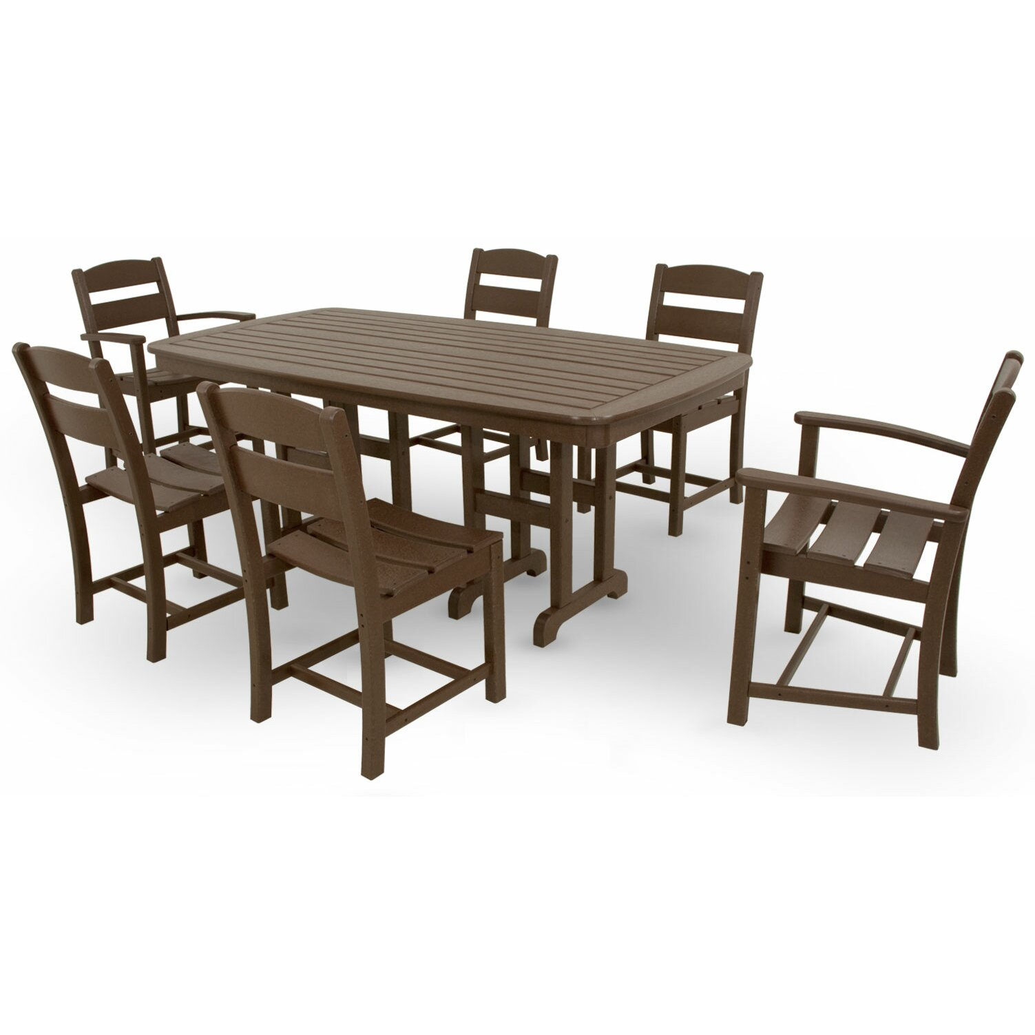 Ivy terrace ivy terrace 7 piece dining set reviews wayfair for Outdoor furniture 7 piece
