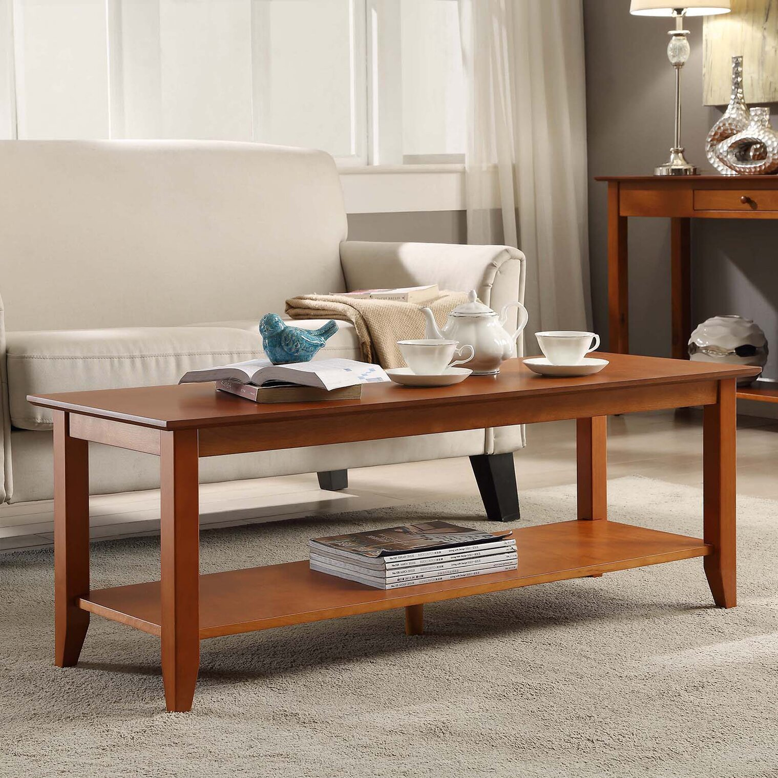 Convenience Concepts American Heritage Coffee Table Reviews Wayfair