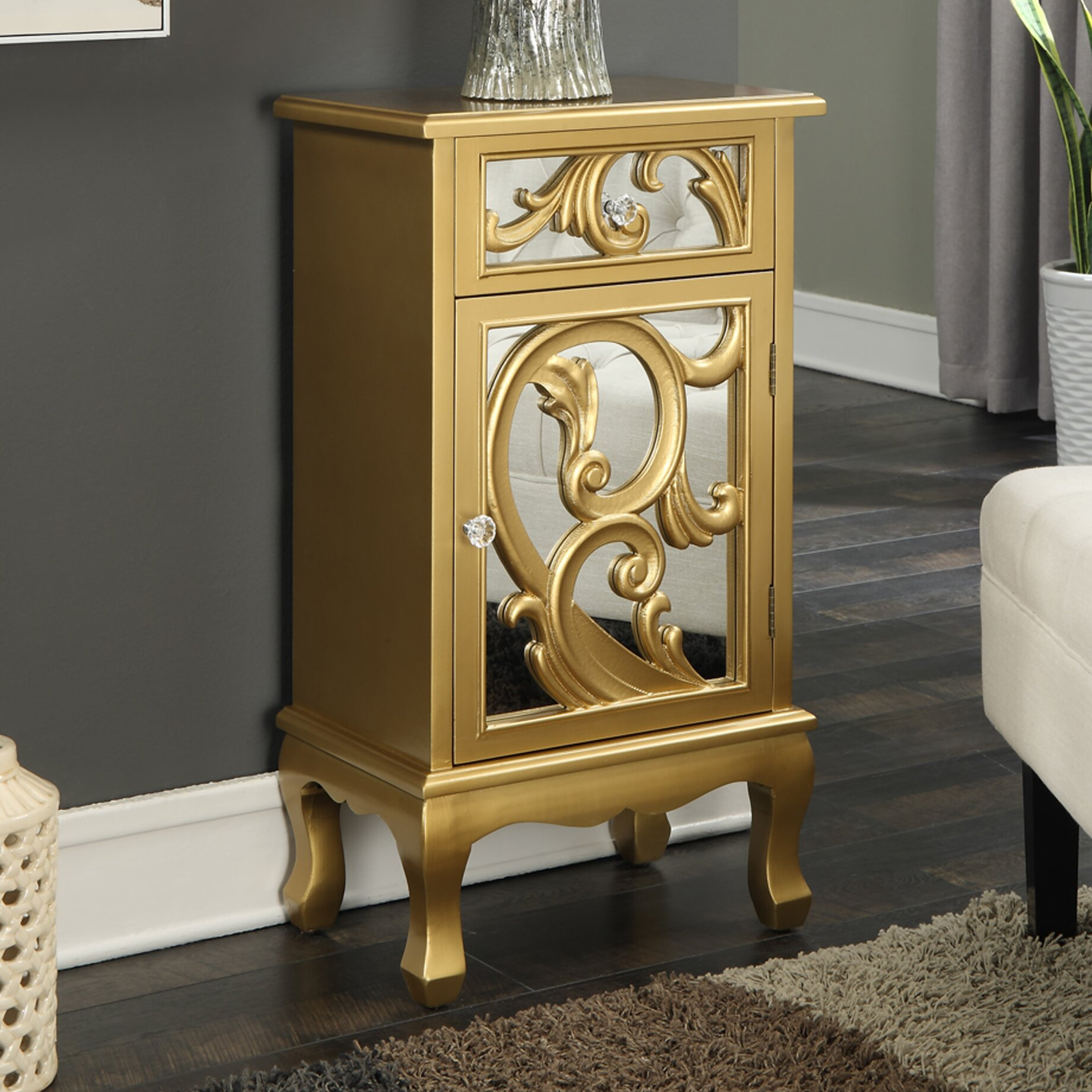 Convenience concepts gold coast jasmine accent cabinet for Bathroom cabinets gold coast