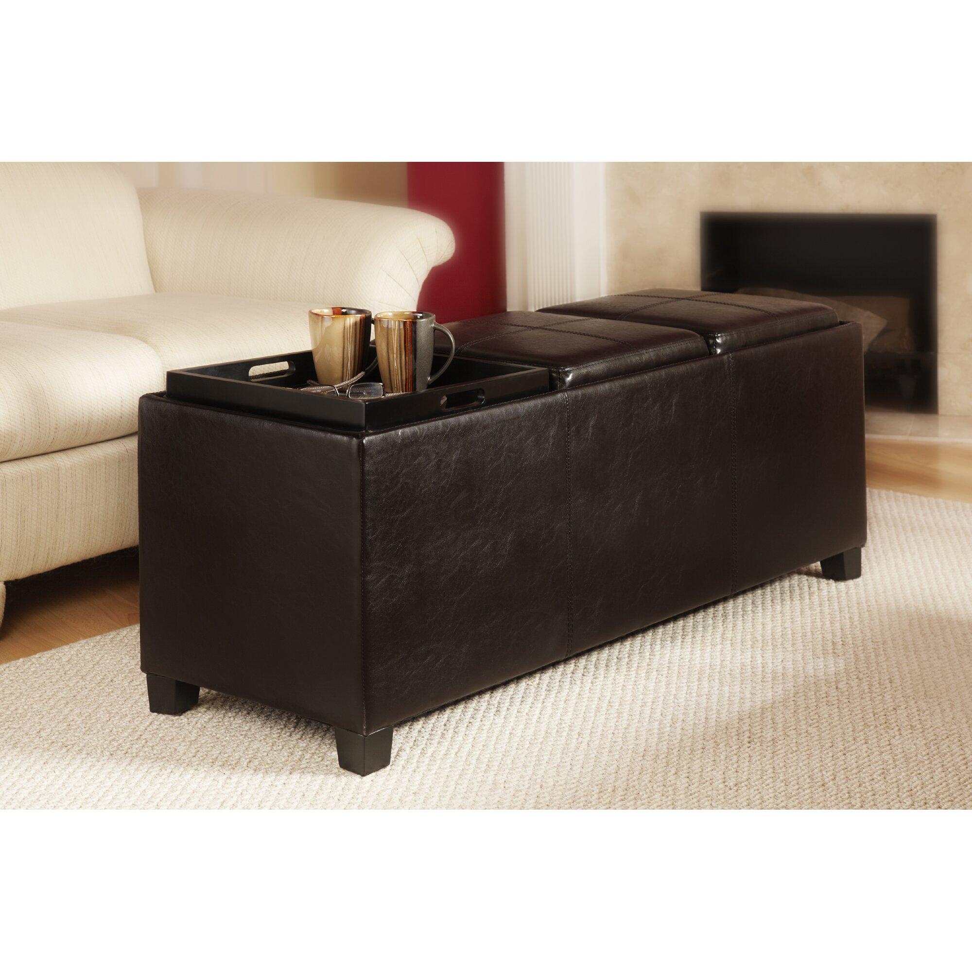 Convenience concepts designs 4 comfort tribeca leather for Convenience concepts storage ottoman