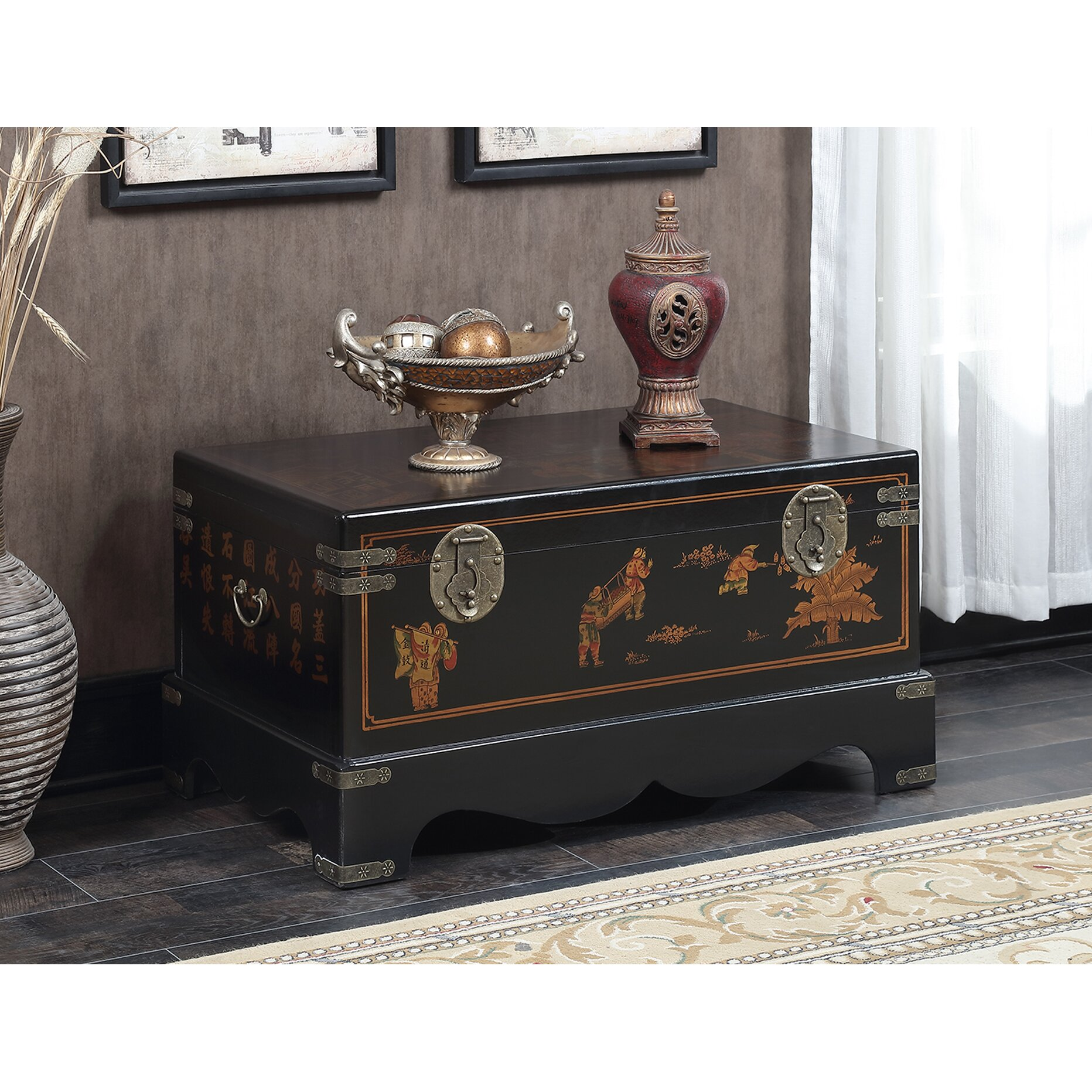 Convenience concepts touch of asia storage coffee table for Wayfair coffee tables with storage