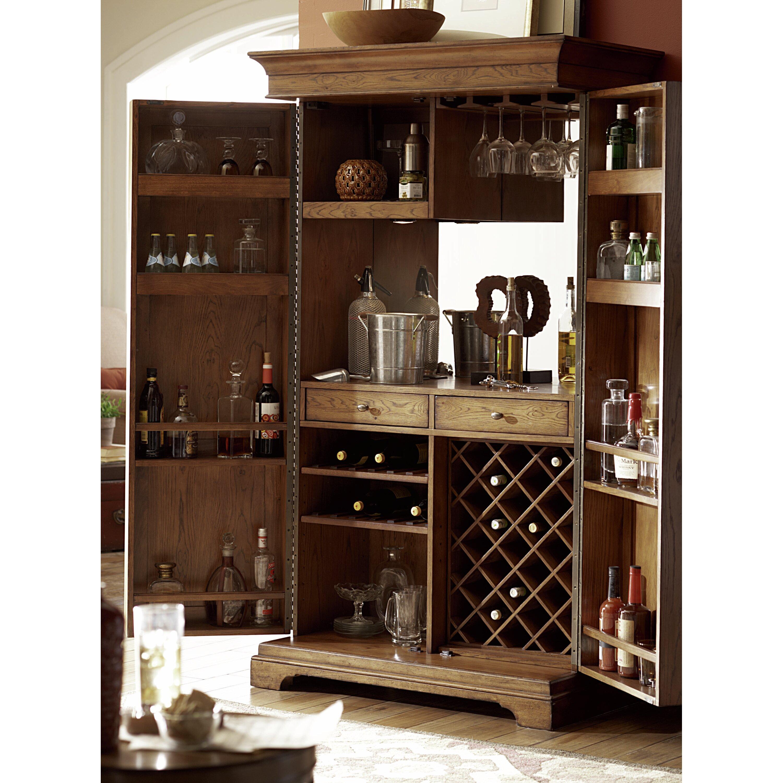Hammary Hidden Treasures Bar Cabinet With Wine Storage