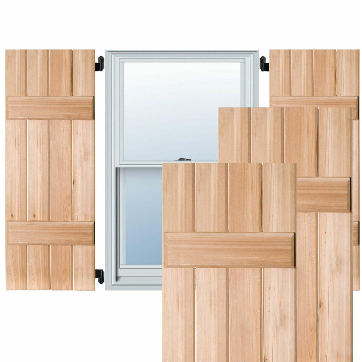 Ekena Millwork Exterior 4 Composite Wood Board N Batten Shutter Wayfair