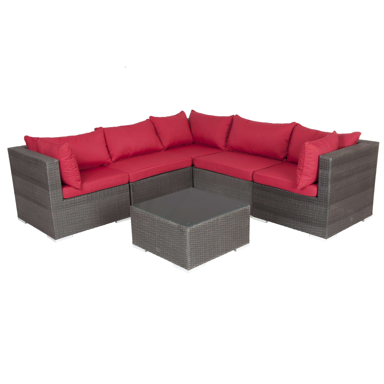patiosense sino wicker sofa set wayfair