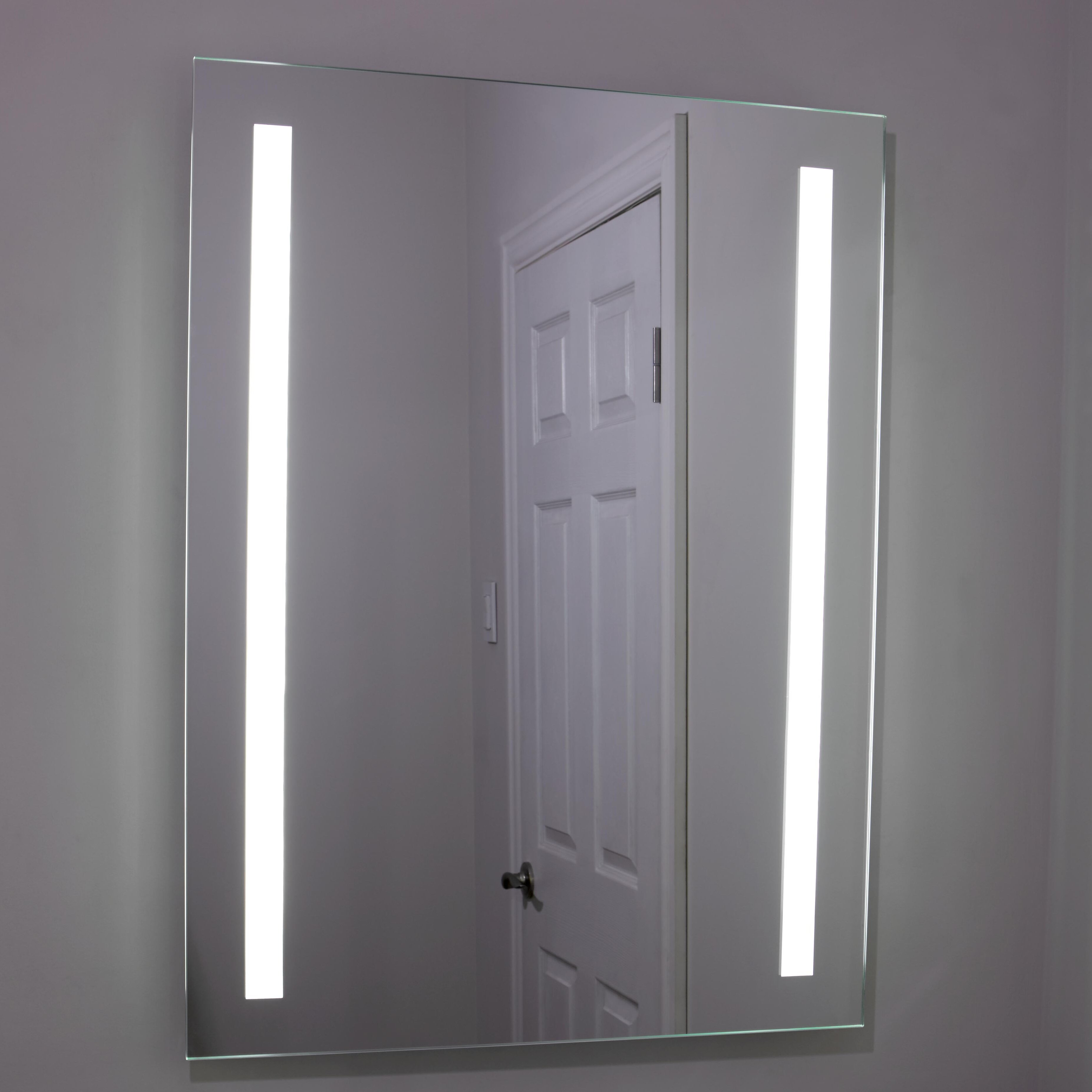erias home designs lighted and illuminated beautiful wall mirror. Black Bedroom Furniture Sets. Home Design Ideas