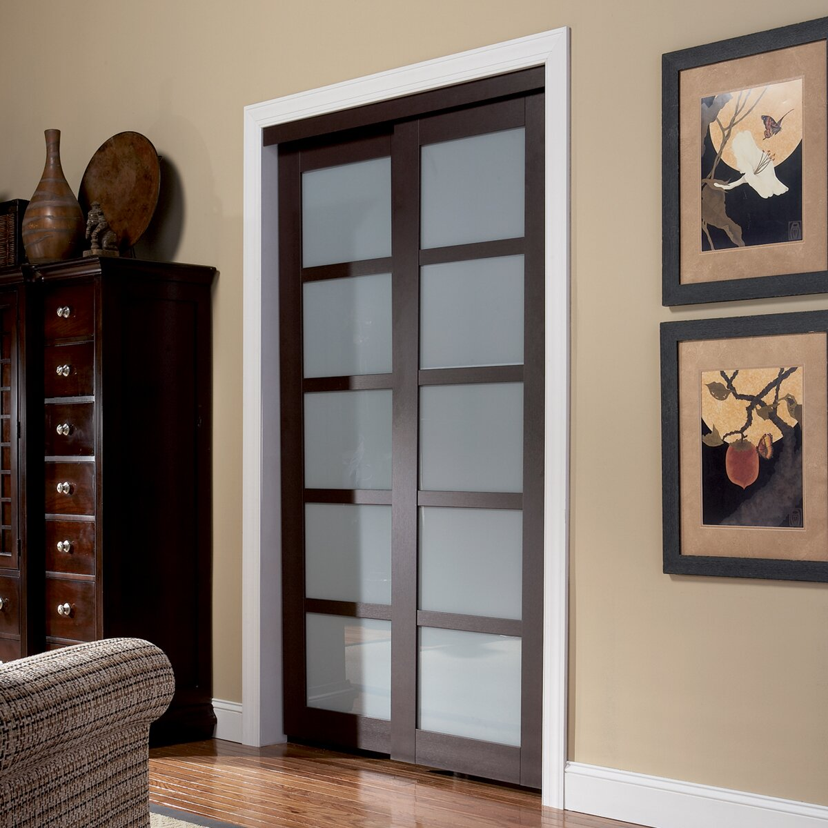 erias home designs baldarassario 2 panel painted sliding interior door reviews wayfair. Black Bedroom Furniture Sets. Home Design Ideas