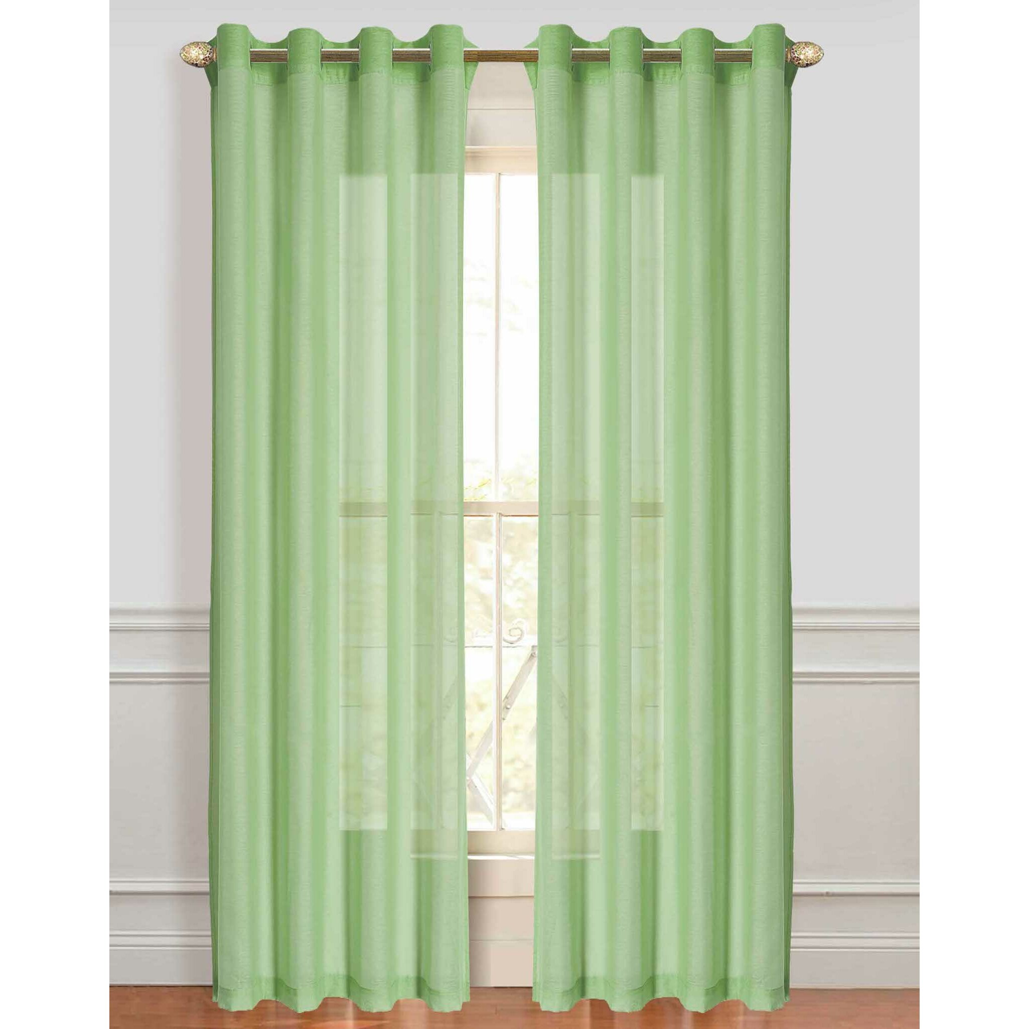 Belk Kitchen Curtains: Dainty Home Malibu Sheer Curtain Panels & Reviews