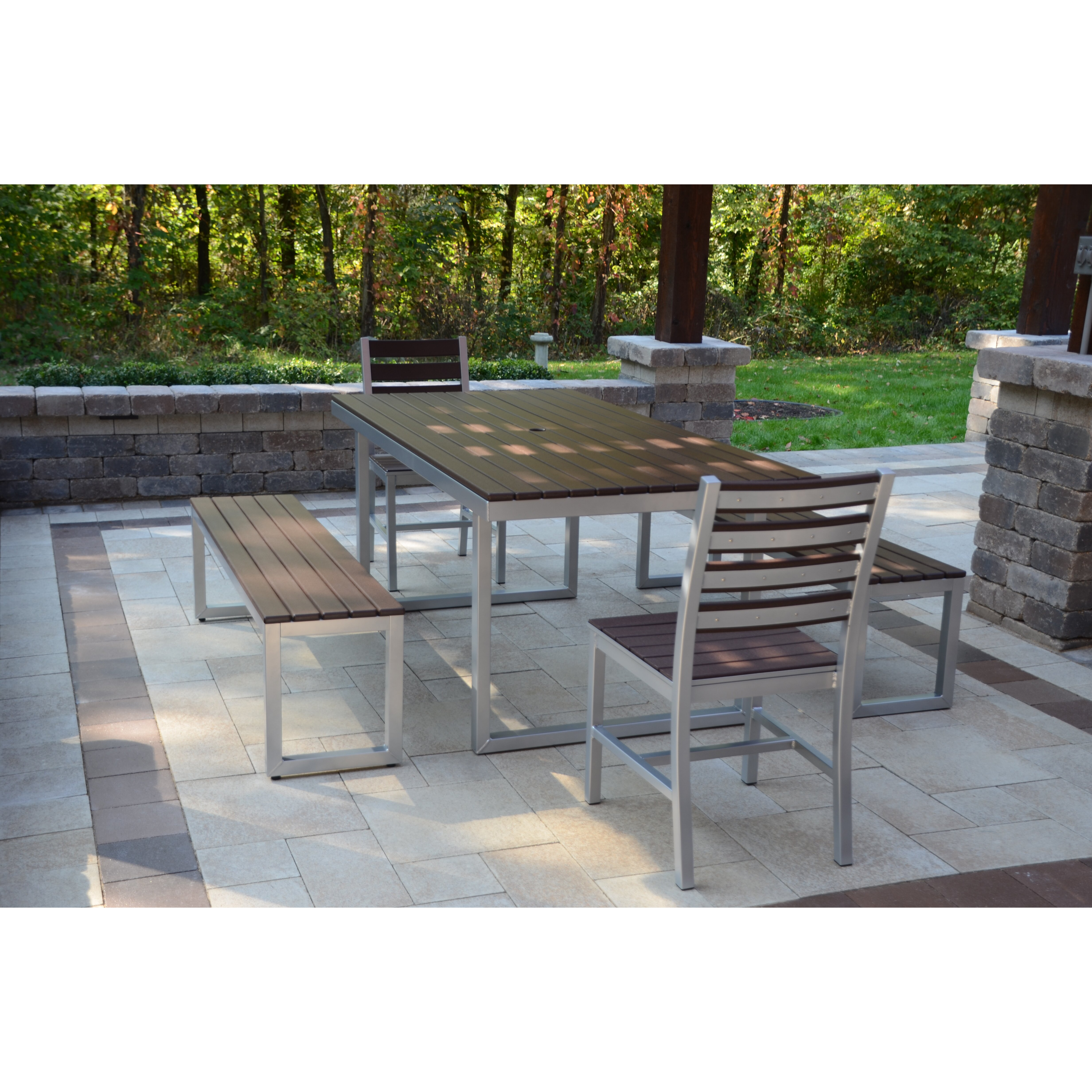 Elan Furniture Kinzie Outdoor Modern 5 Piece Dining Set Reviews Wayfair