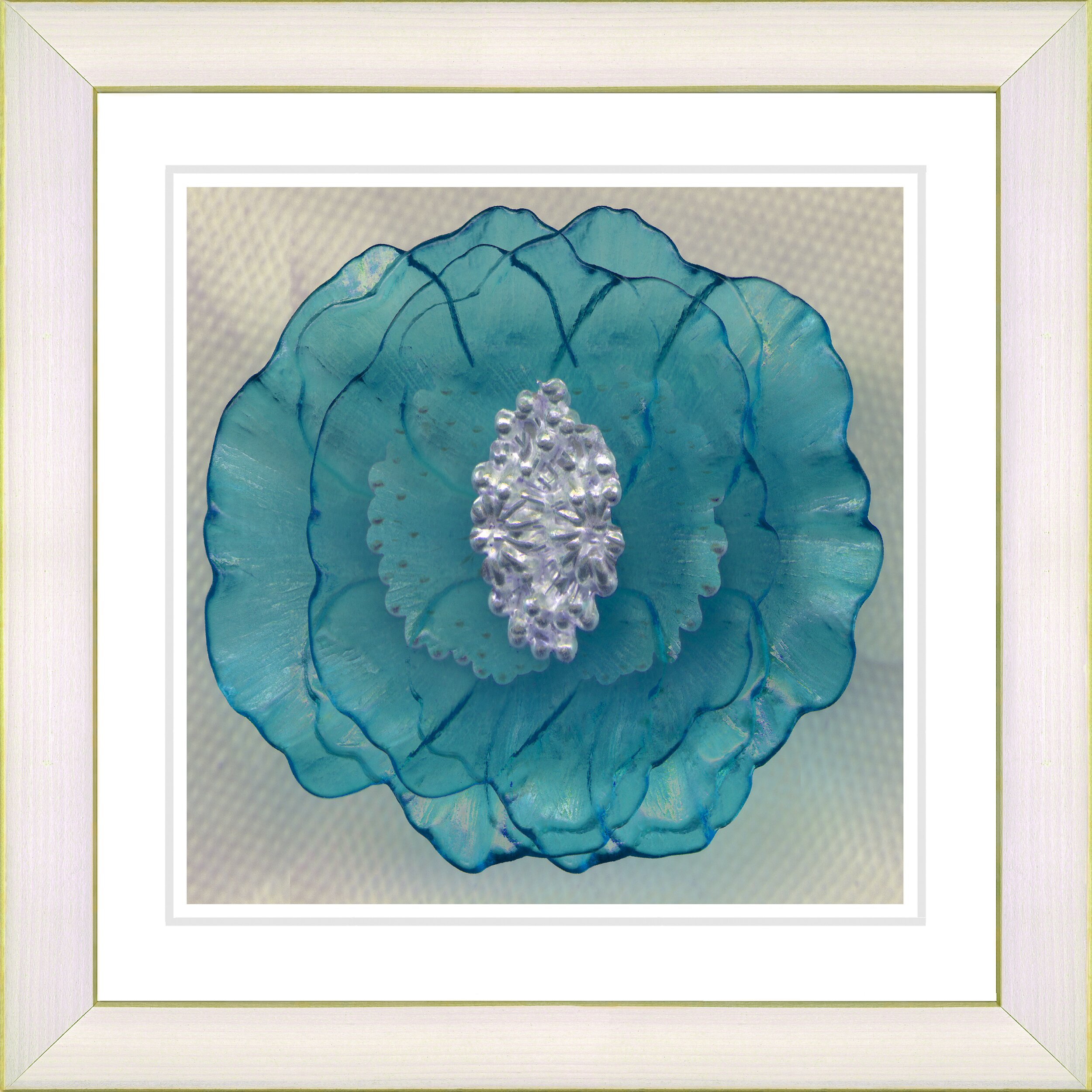 Studio Works Modern Crystal Flower Turquoise By Zhee