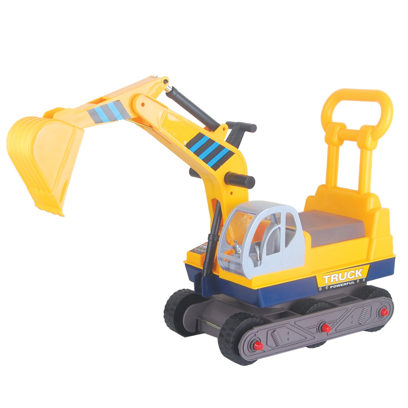 Vroom Rider Ride On 6 Wheel Excavator On Wheels With Back