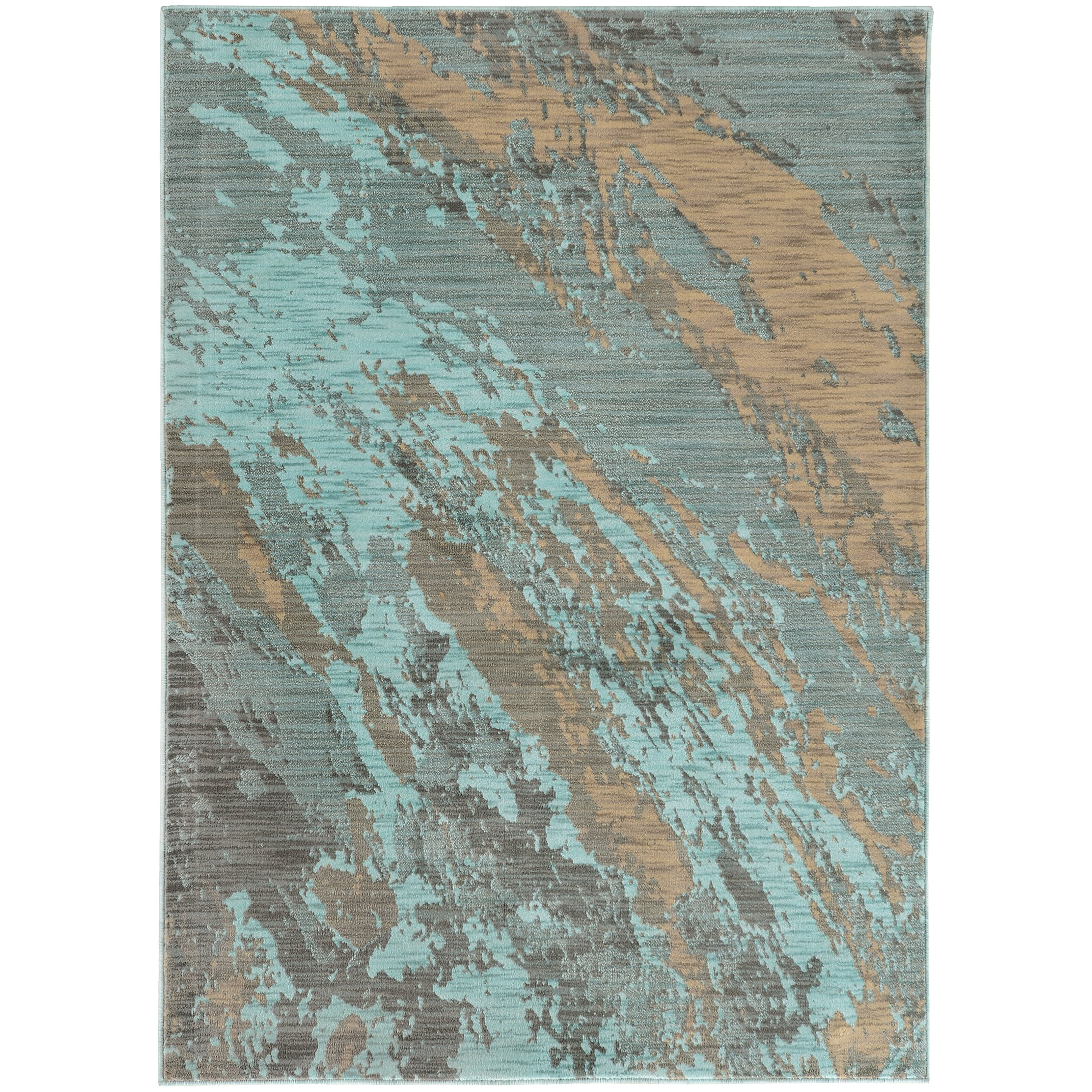 The Conestoga Trading Co. Agave Marble Teal/Gray Area Rug
