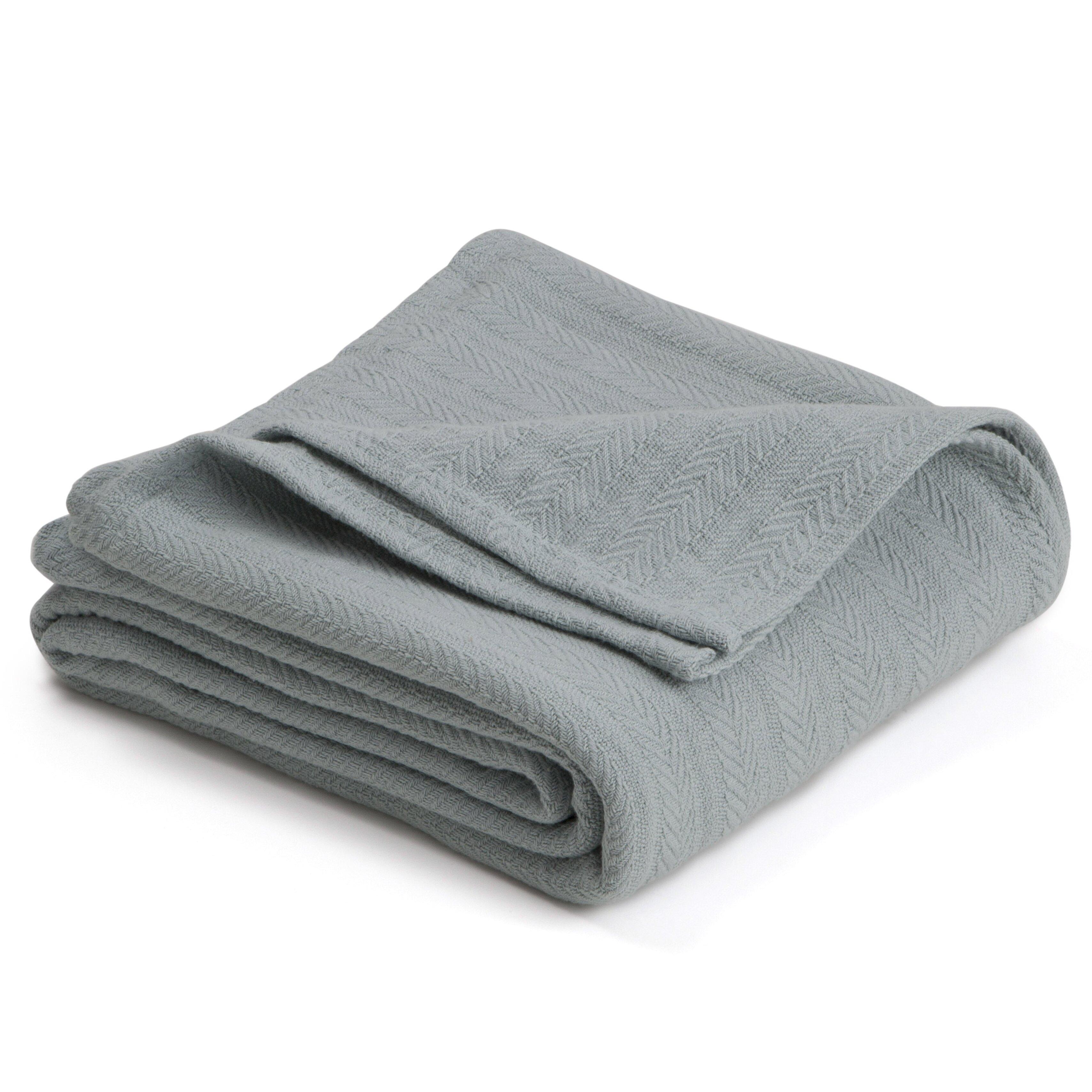 Vellux vellux woven cotton blanket reviews wayfair for Vellux blanket