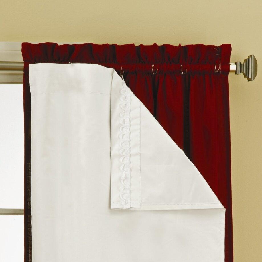 Eclipse Curtains Liner Rod Pocket Blackout Single Panel  : Eclipse Curtains Liner Rod Pocket Blackout Single Panel 10332WH from www.wayfair.com size 919 x 919 jpeg 95kB