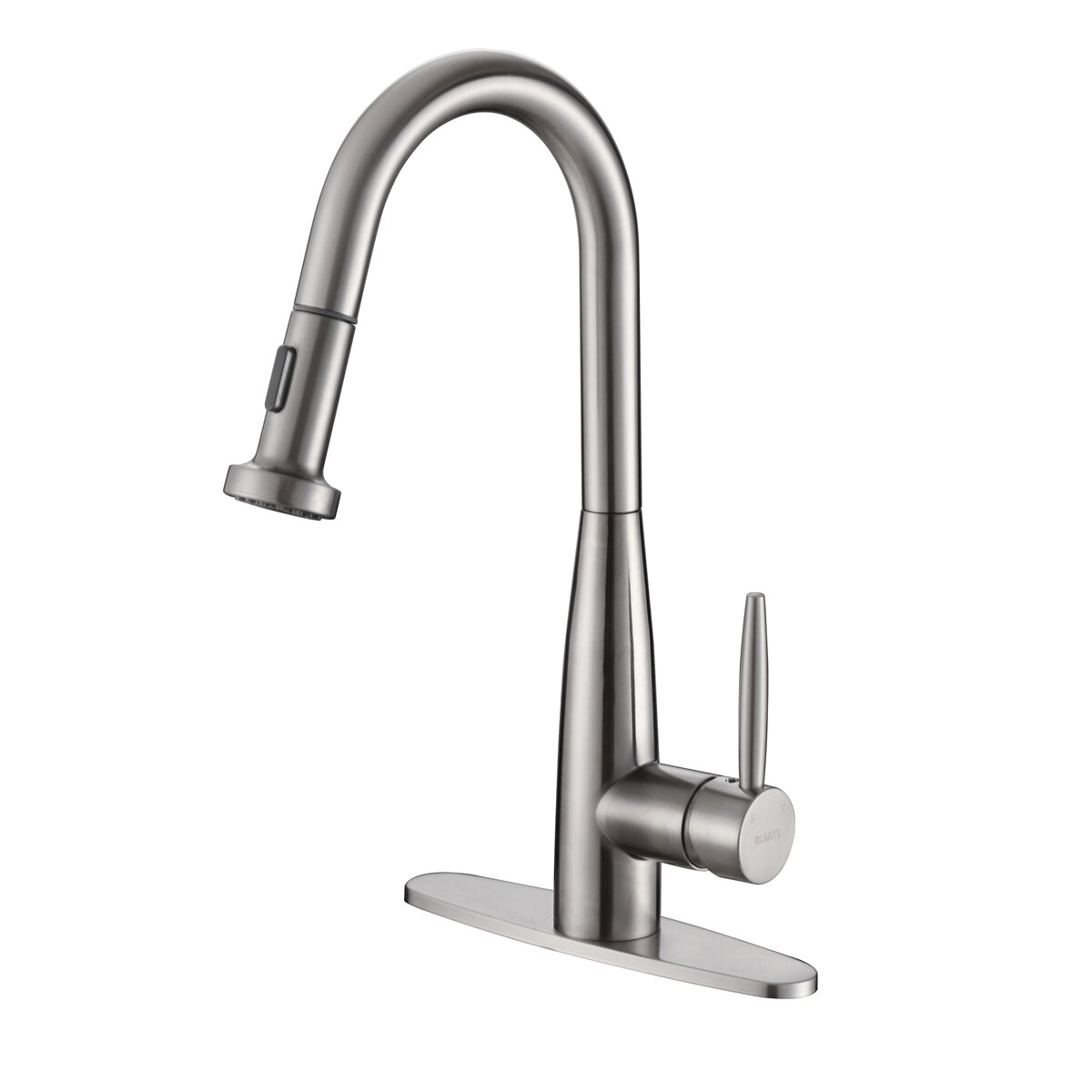 ruvati turino single handle kitchen faucet with pull out
