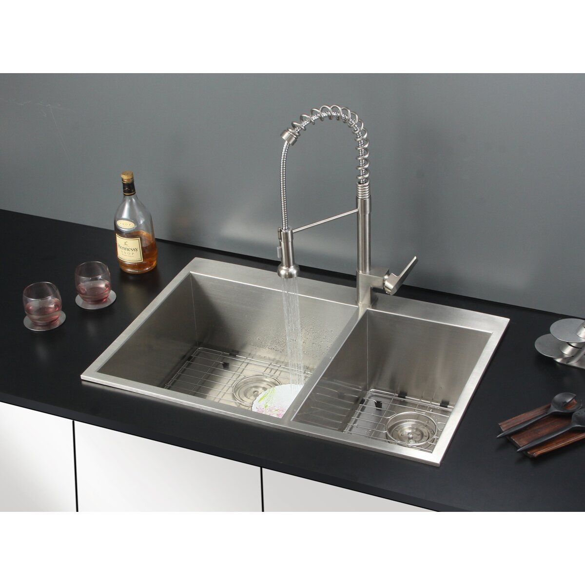 Ruvati 33 X 22 Drop In Kitchen Sink With Faucet