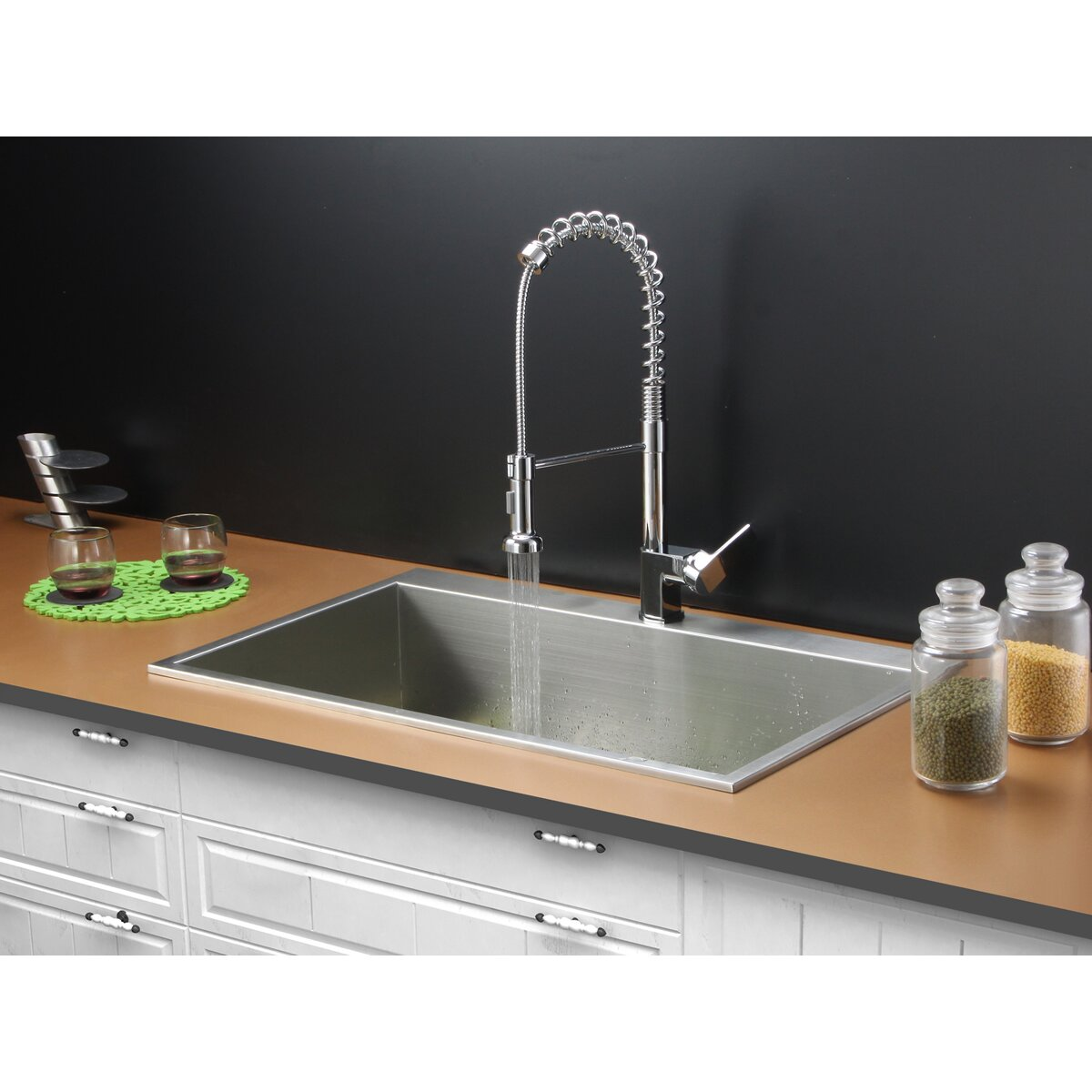 drop in sinks kitchen ruvati 33 quot x 21 quot drop in kitchen sink with faucet 6973