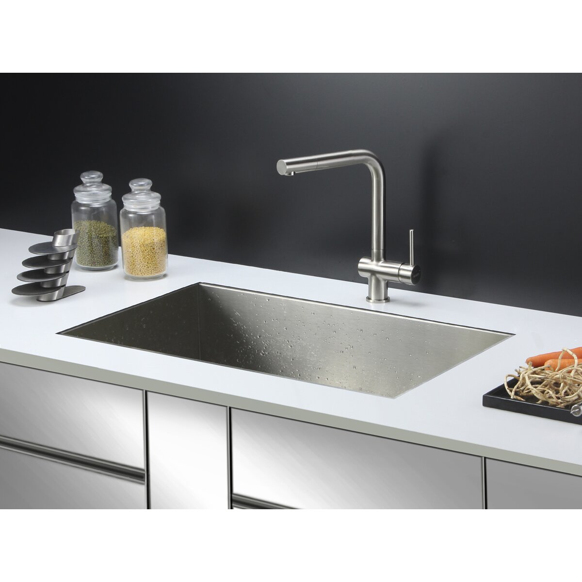 """Ruvati Nesta 32"""" X 19"""" Undermount Single Bowl Kitchen Sink"""