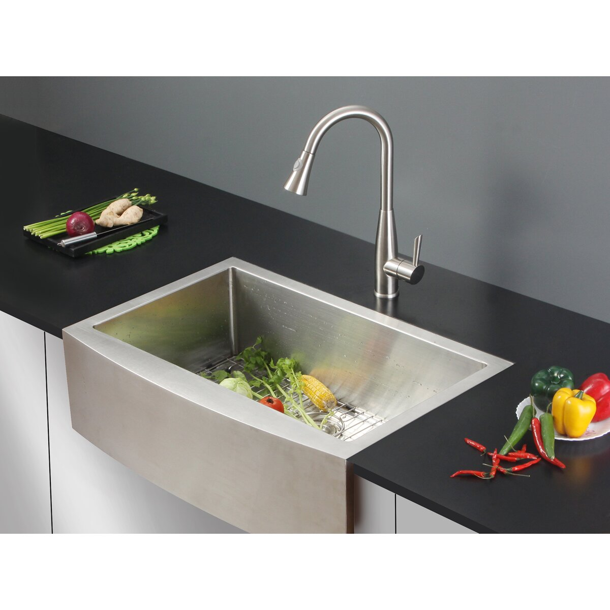 """Ruvati 33"""" X 22"""" Kitchen Sink With Faucet & Reviews"""