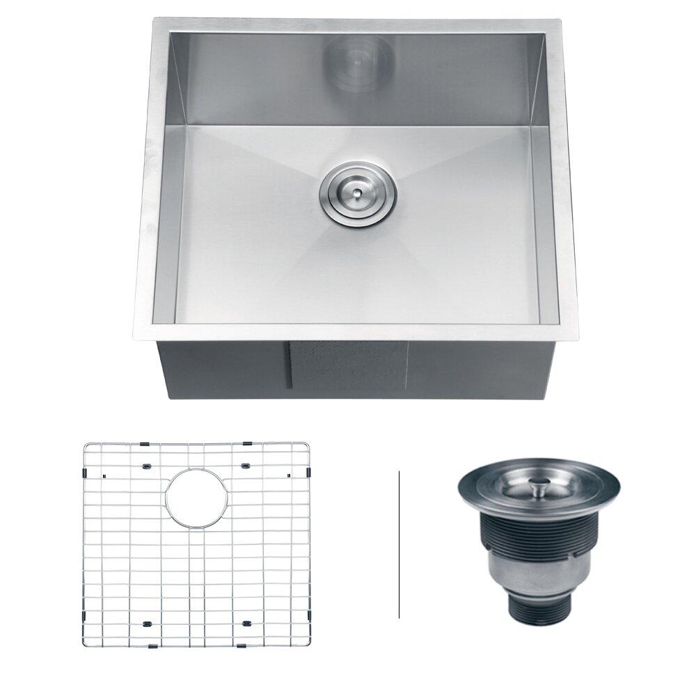 Ruvati Nesta 23 X 18 Undermount Single Bowl Kitchen Sink Reviews Wayfair