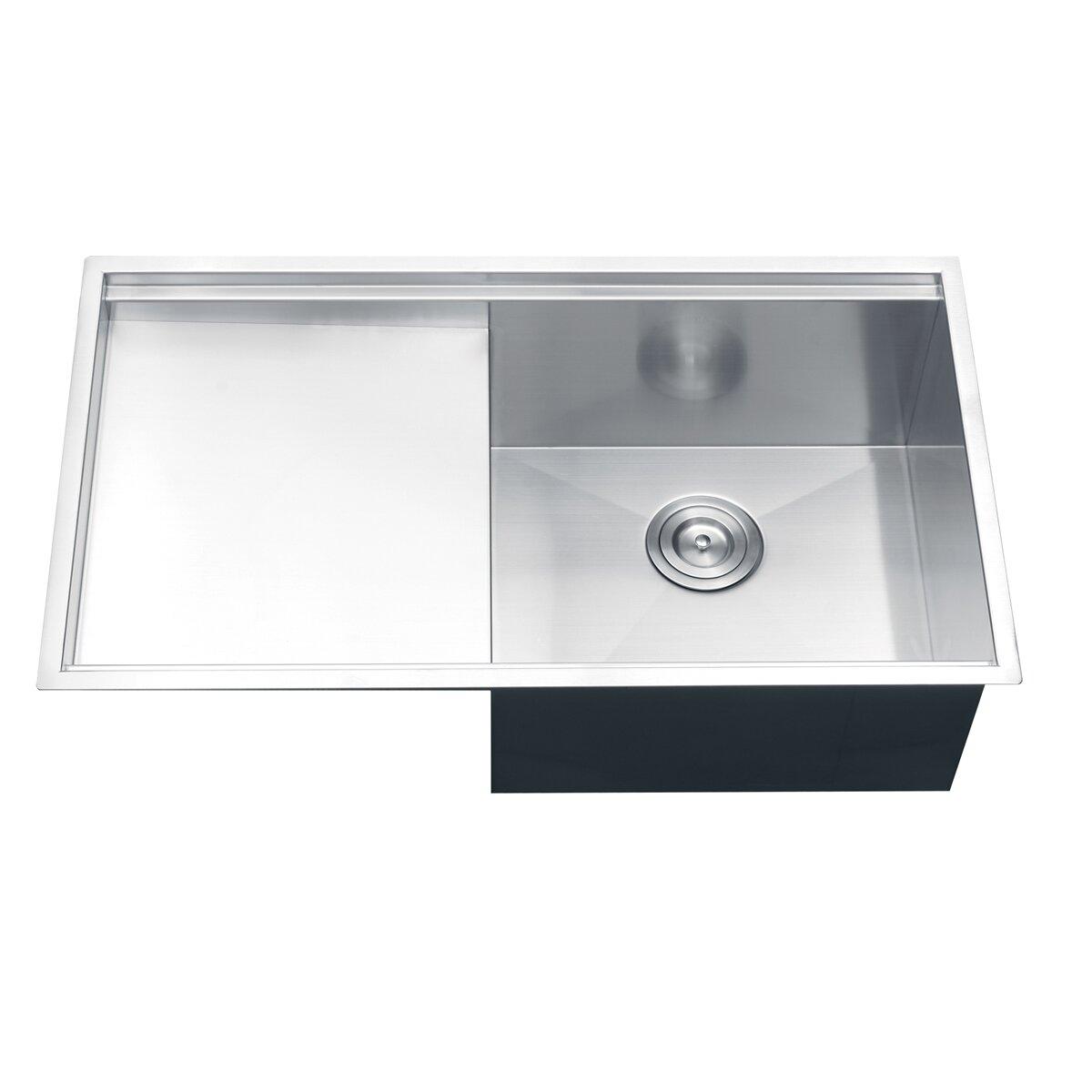 Ruvati Roma 33 X 19 Undermount Single Bowl Kitchen Sink Reviews Wayfair