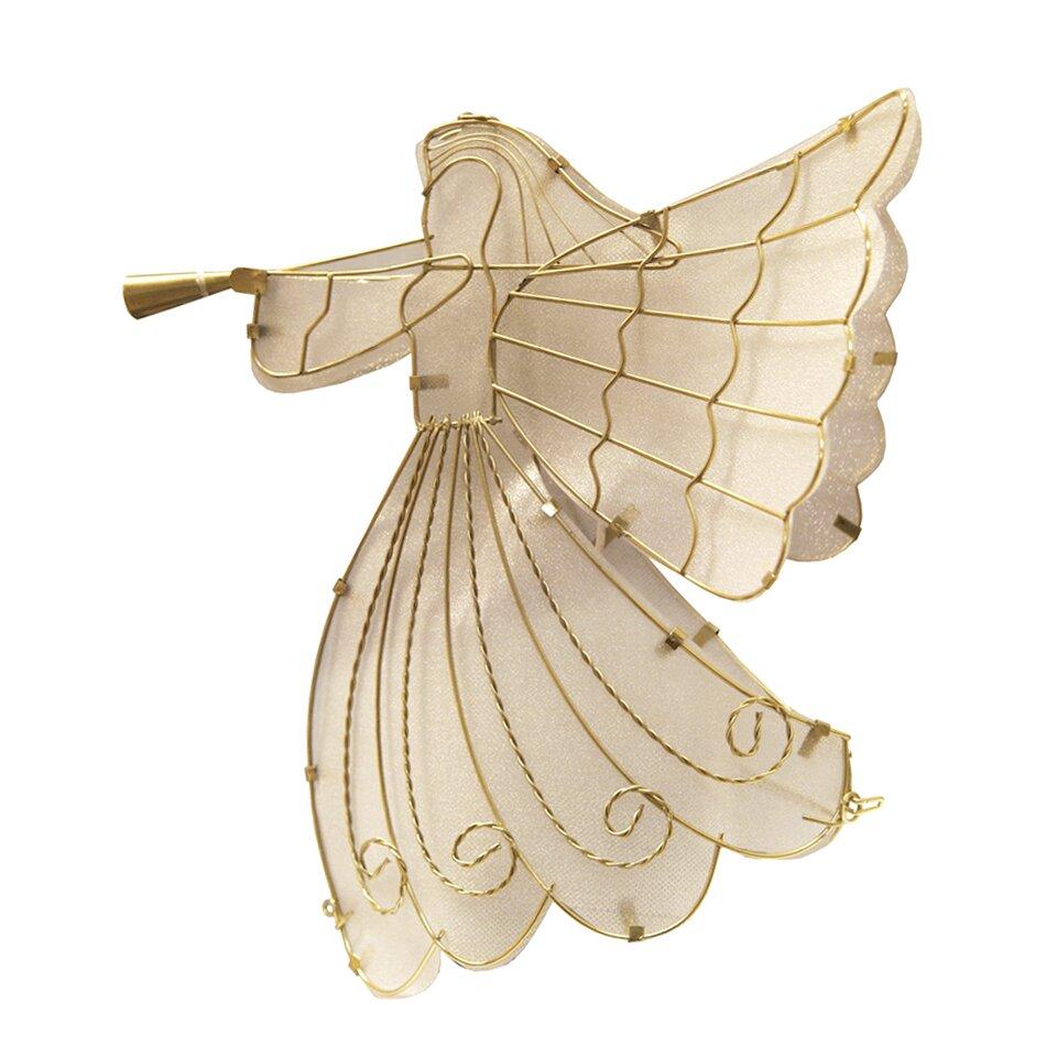 Cat Angel Christmas Tree Topper: Brite Star 0.92' Gold Shimmer Angel Christmas Tree Topper
