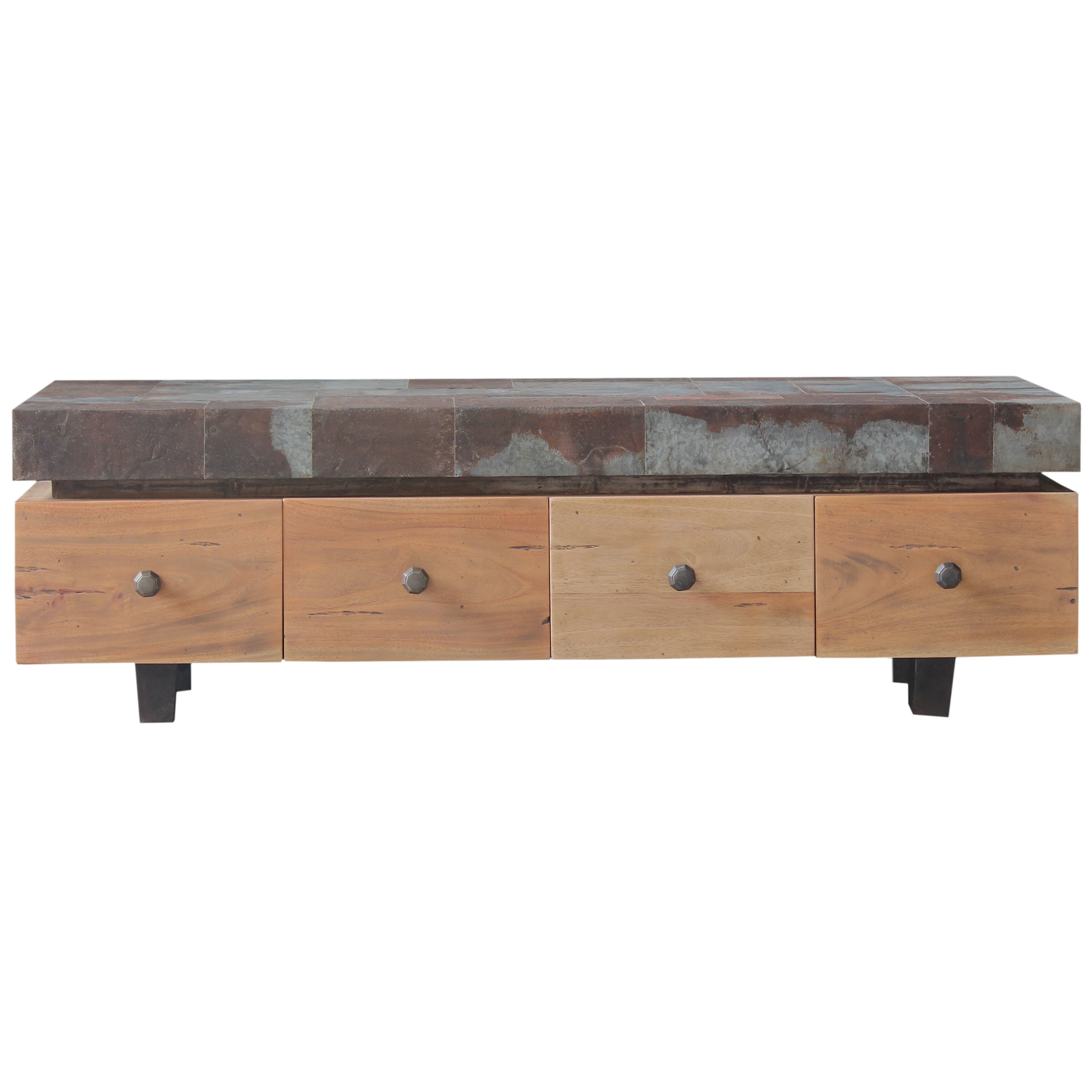 Bramble Co Remit Coffee Table With Nested Stools Wayfair