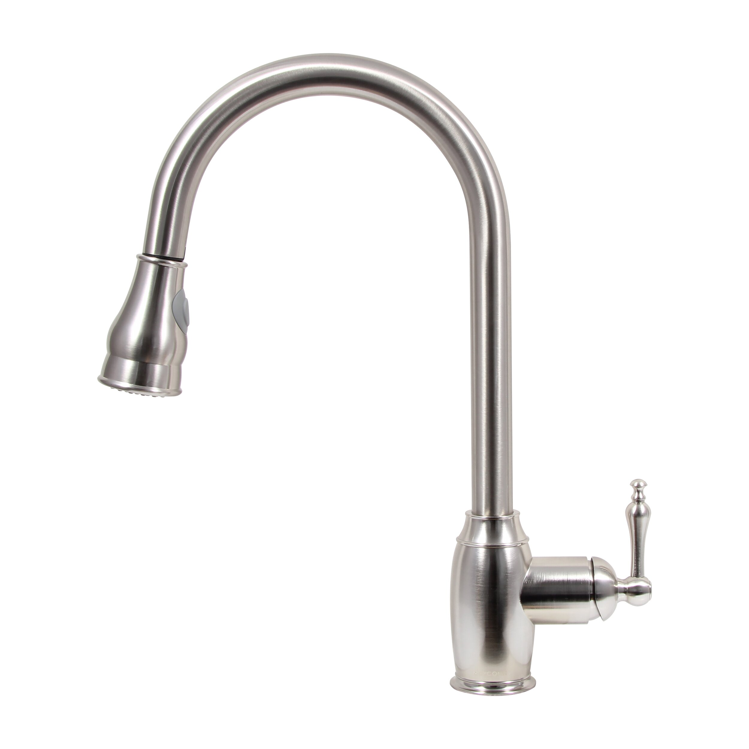 Dyconn Faucet Pull Down Dual Spray Single Handle Kitchen Faucet Reviews Wayfair
