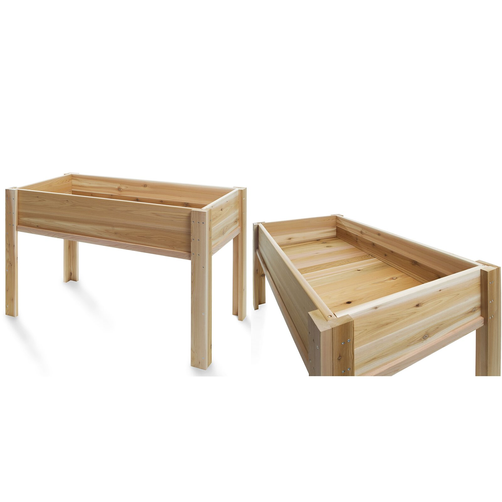 how to build a raised garden box with legs