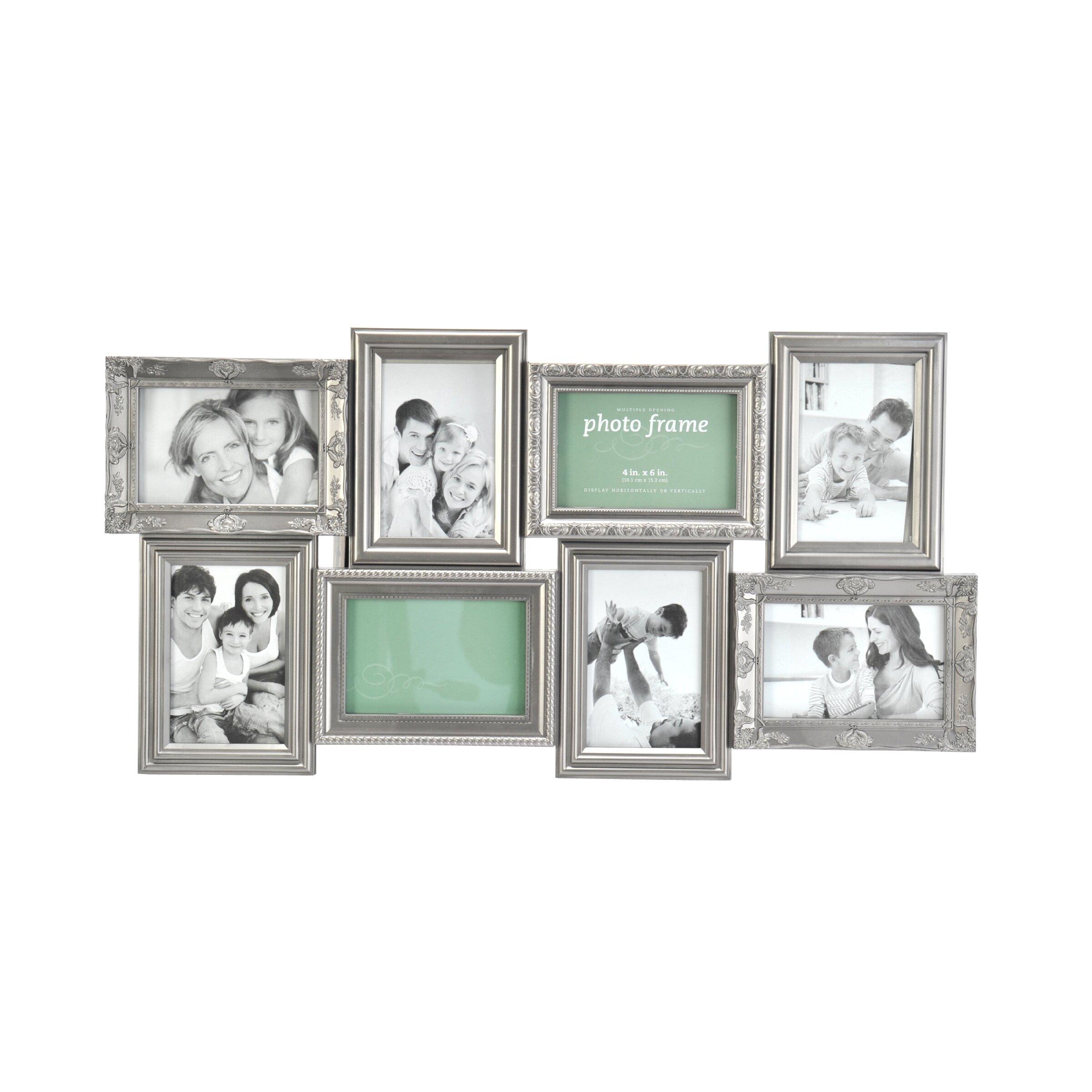 melannco 8 opening multi profile collage picture frame reviews wayfair. Black Bedroom Furniture Sets. Home Design Ideas