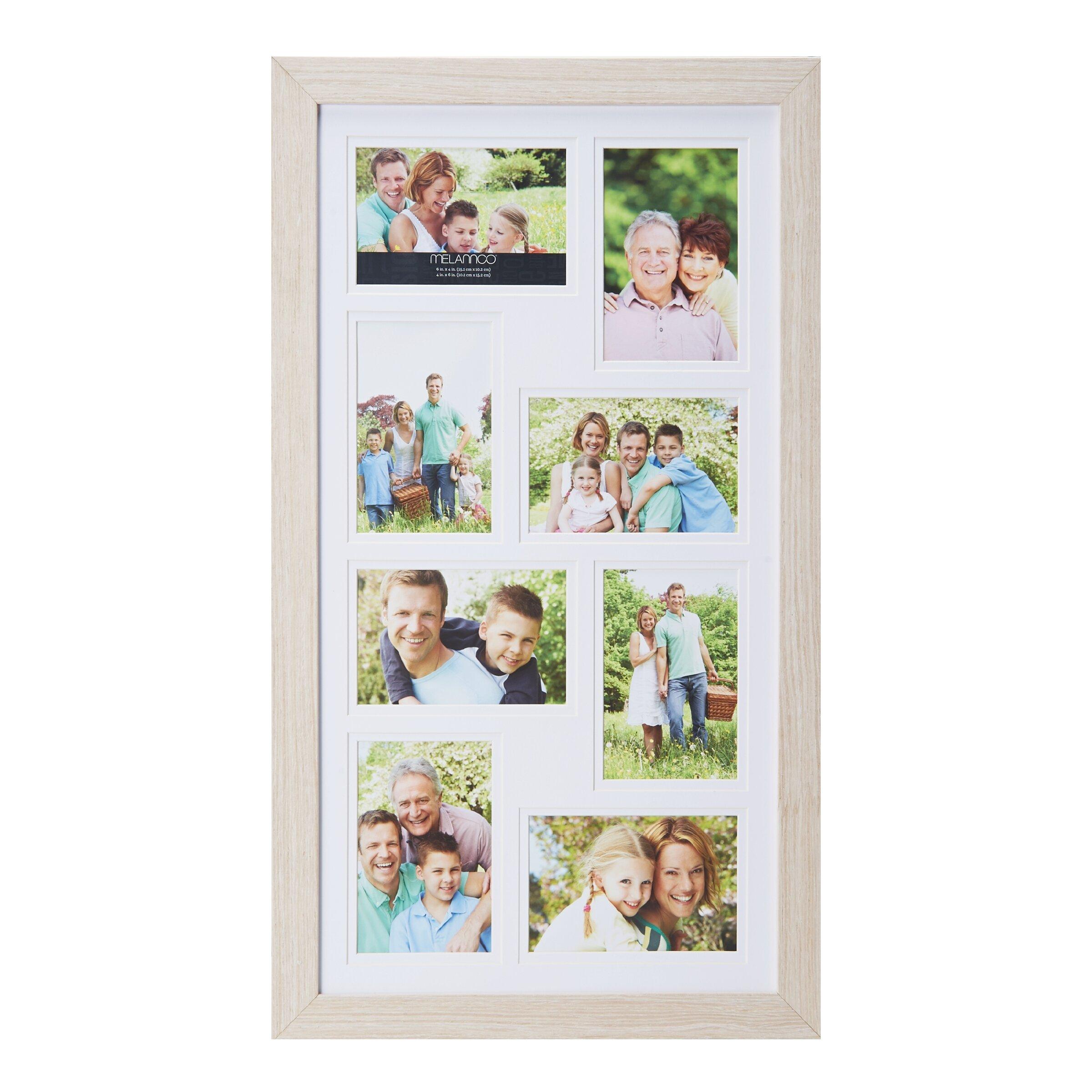 melannco 8 opening wood collage picture frame reviews wayfair. Black Bedroom Furniture Sets. Home Design Ideas