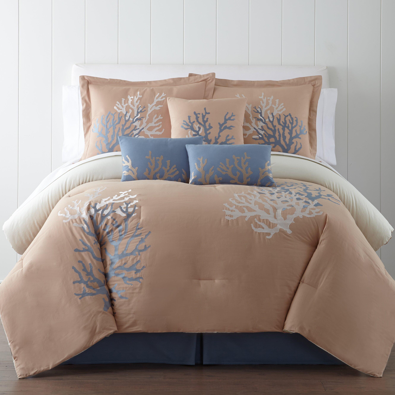 panama jack coral seas 7 piece comforter set reviews wayfair. Black Bedroom Furniture Sets. Home Design Ideas